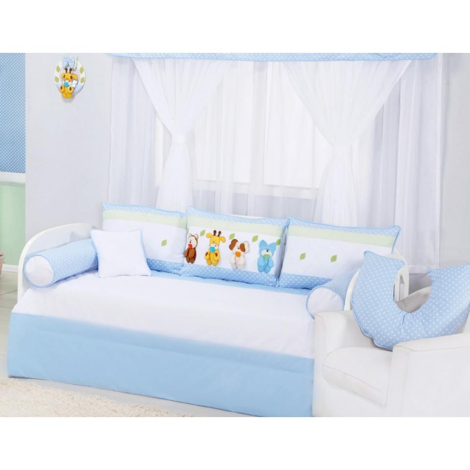 fcf1851d00 kit cama babá arca de Noé azul 8 pcs no Elo7