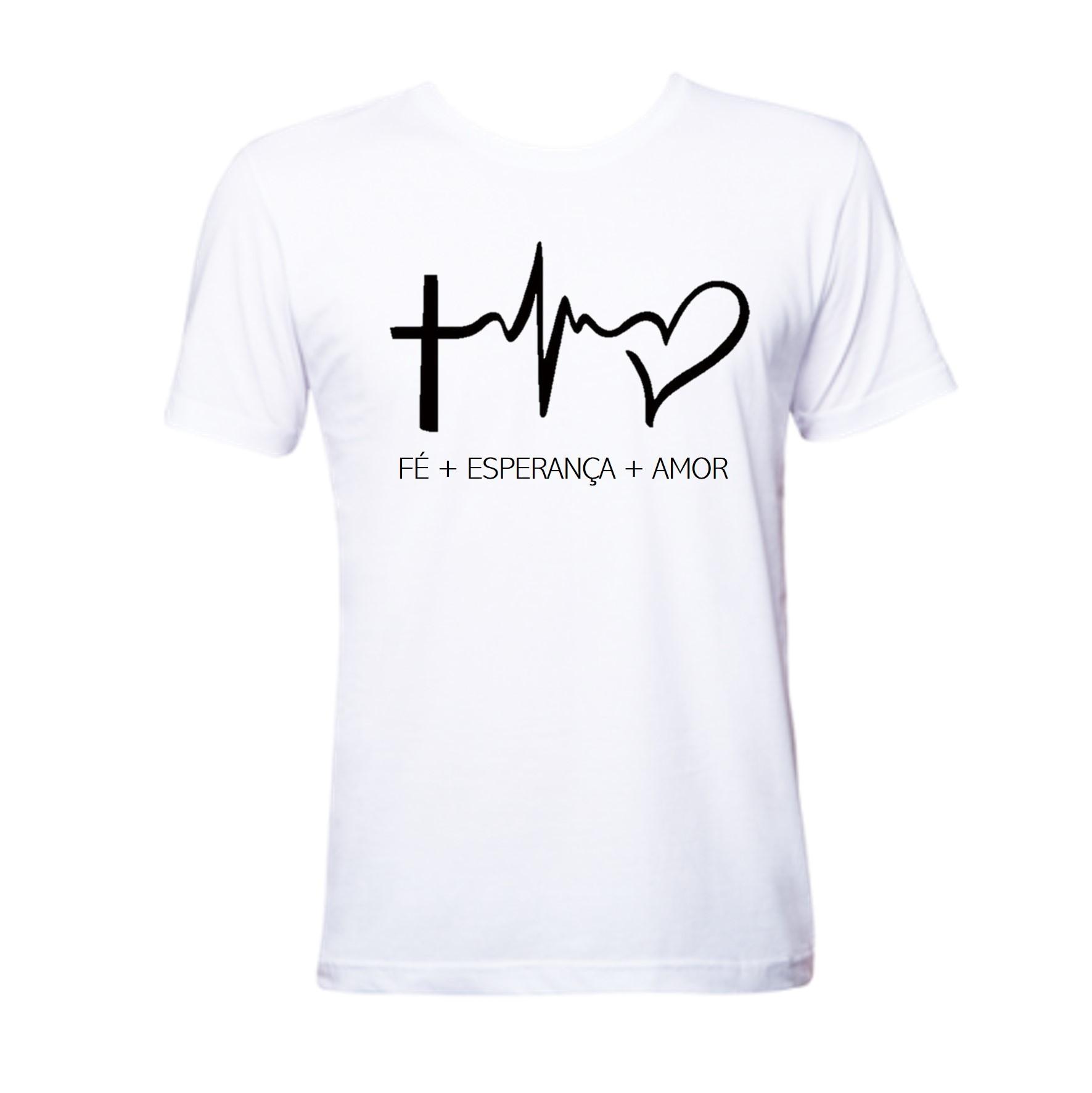 Camiseta Fé com Amor  a35e0f9274939