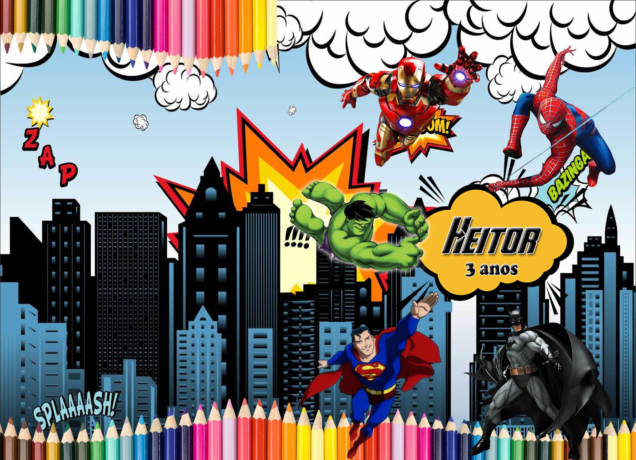 Revistinha De Colorir Super Herois No Elo7 Correas Festas E4b26e