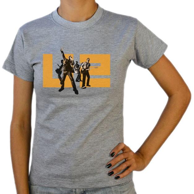 23f7c4c1a4521 Camiseta Feminina Baby Look Cinza Mescla U2 Banda de Rock 07 | Elo7