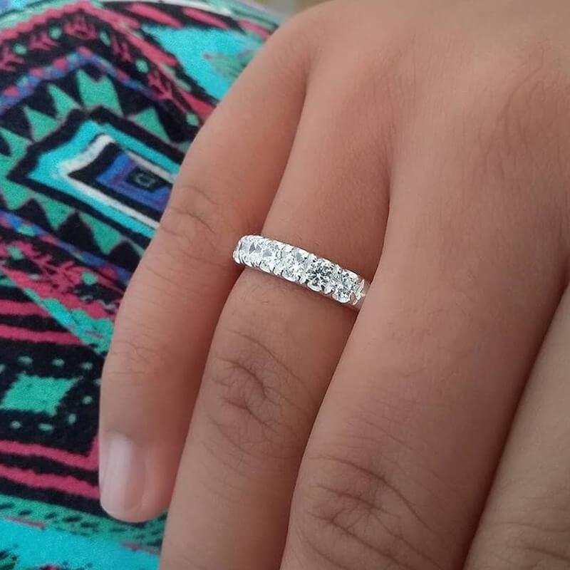 Anel de Prata Pedra Zirconia Feminino   Elo7 61a6a3a167