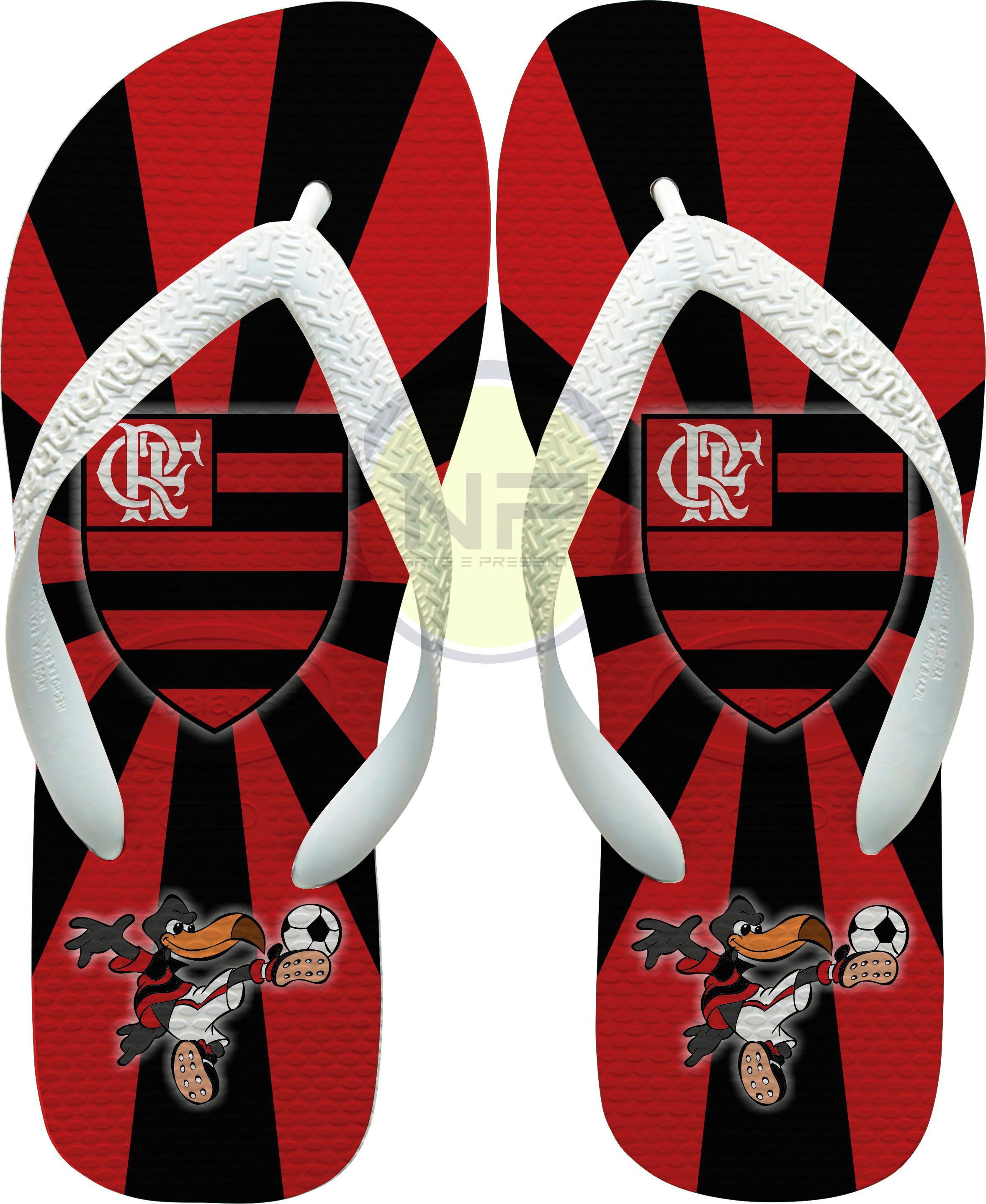 1820885a251388 Chinelo Havaianas Personalizado Flamengo - Mascote