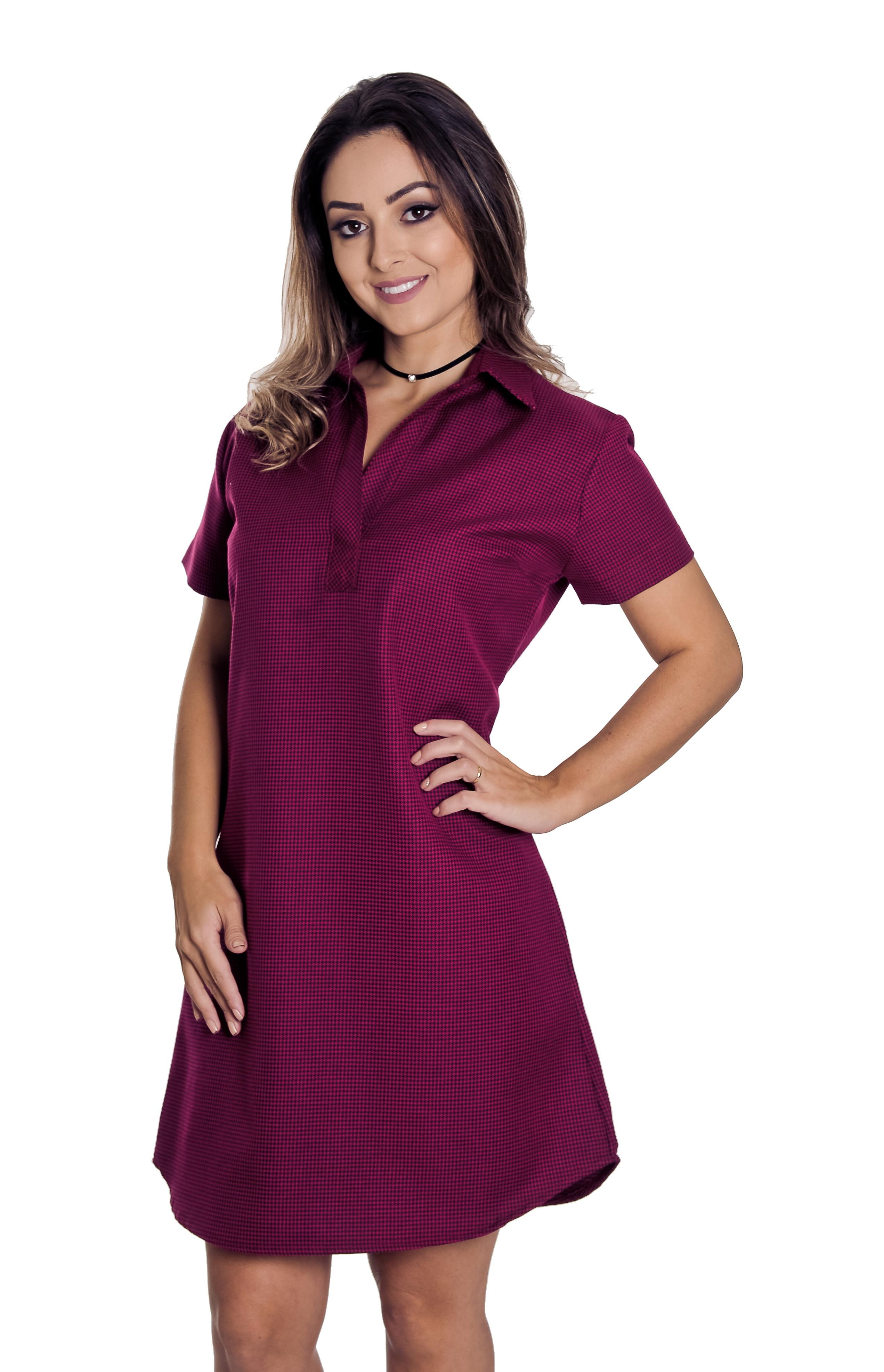 Camisa Feminina Paolla - Pimenta Rosada no Elo7  d353106758c73