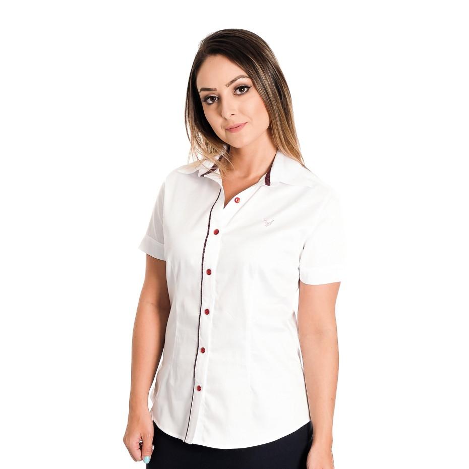 9a4b89288d Camisa Feminina Beatriz - Pimenta Rosada FIO EGÍPCIO no Elo7 ...