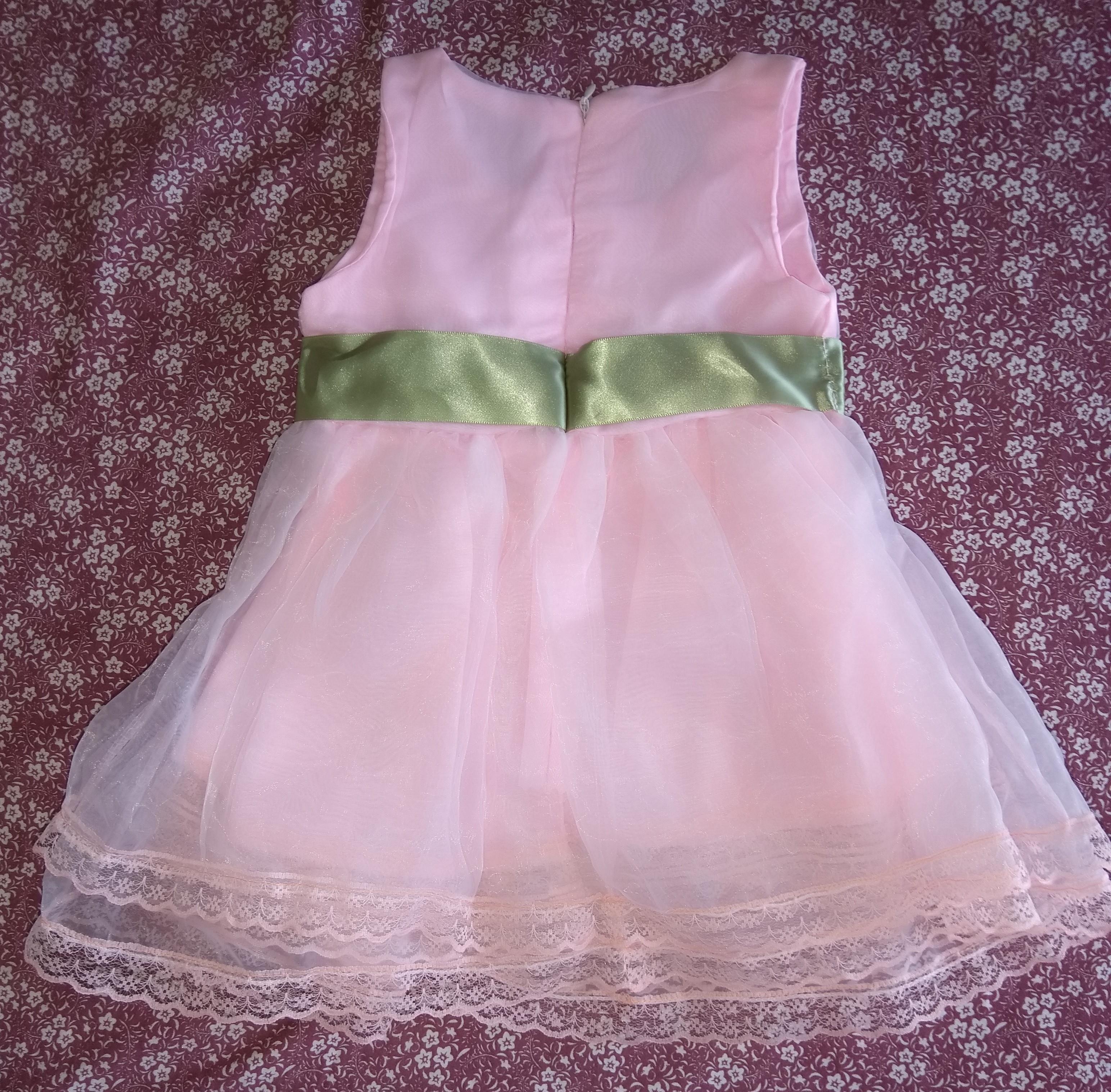 bb62279573 Vestido chiffon rosa com laço e renda no Elo7