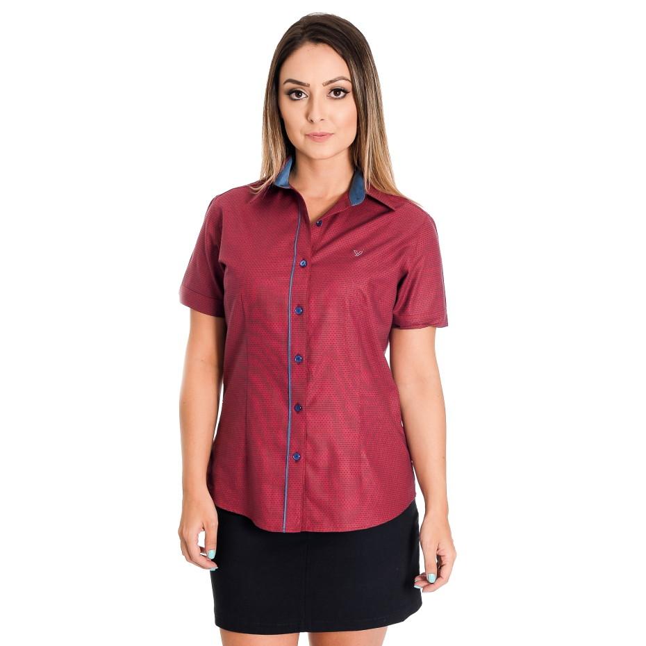 Camisa Feminina Poá Francisca no Elo7  52c4718e1c1e2