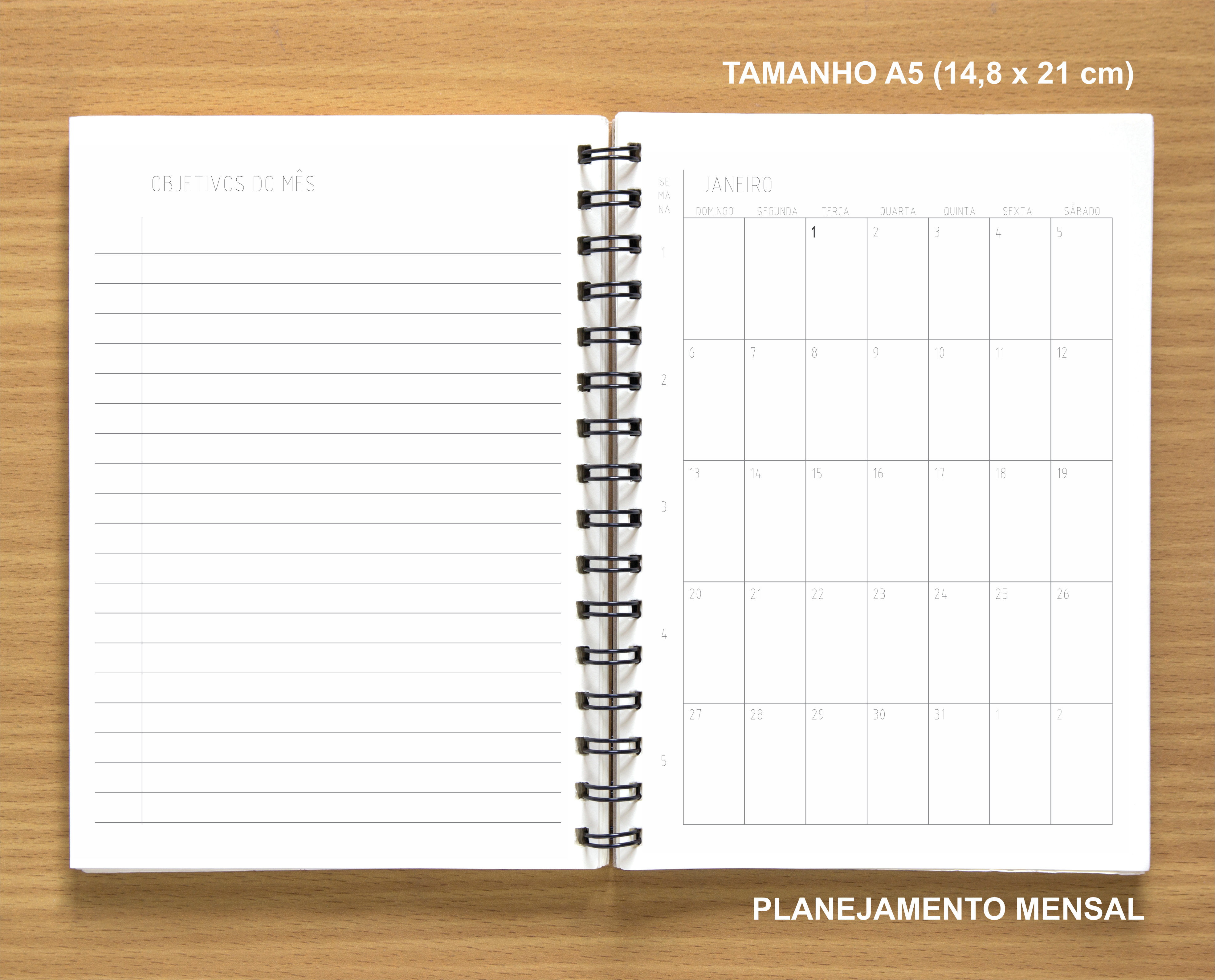 1bf5e97c9 Planner Anual 2019 Minimalista (Capa Branca) - Baixo Custo no Elo7 | 3sete4  (E55730)