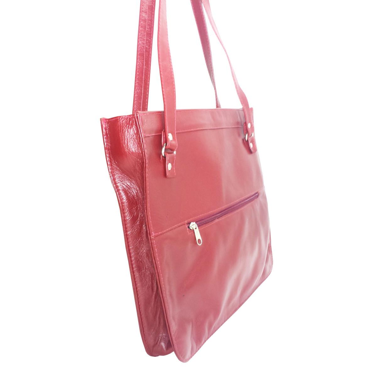 e8b6265c7 Bolsa Feminina Couro Legítimo Transversal Elegante Vermelha no Elo7 | Bolsas  & Calçados de couro (E56718)