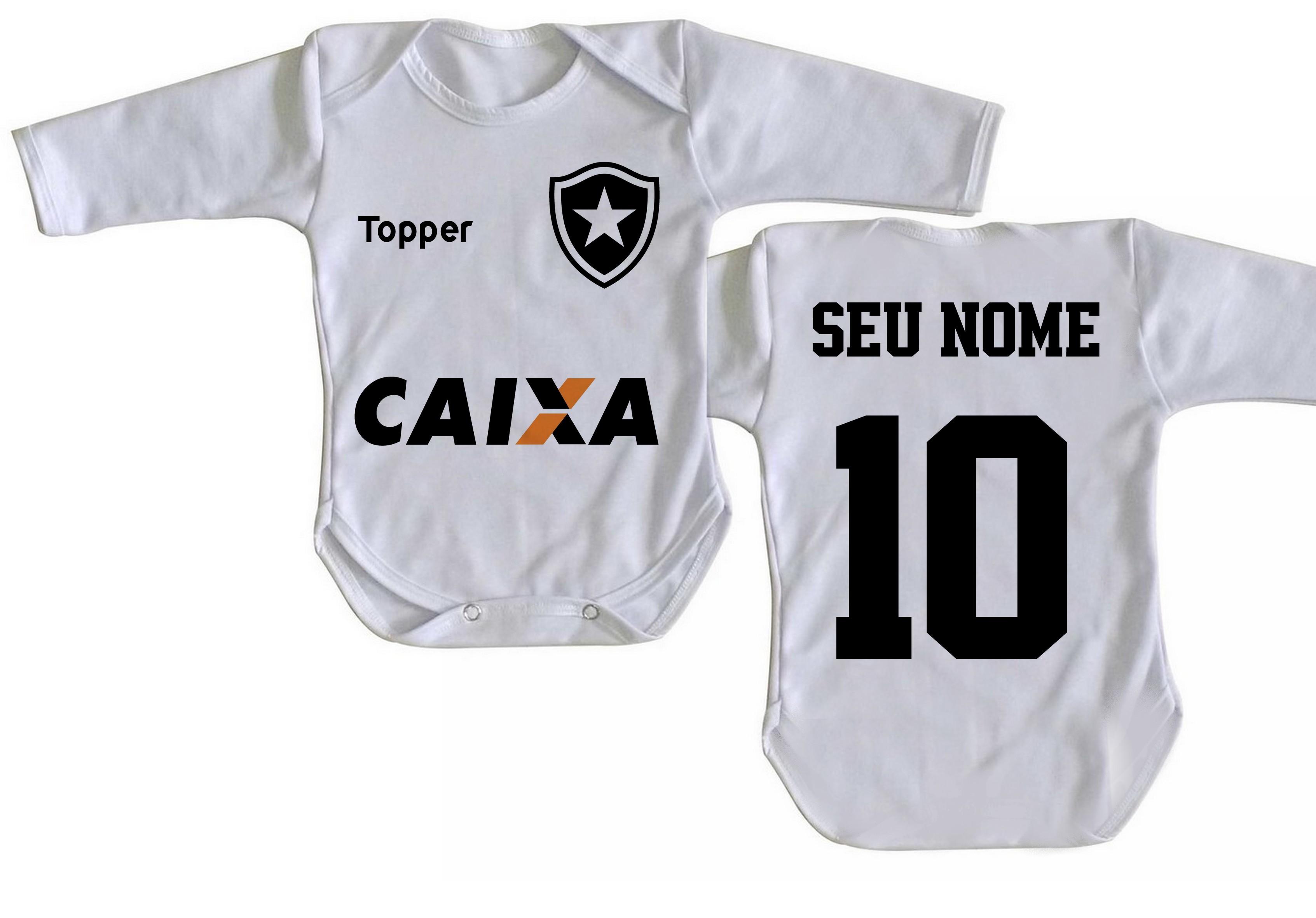 Body Bebê Roupa Infantil futebol personalizado Botafogo no Elo7 ... b521fa98ba5db