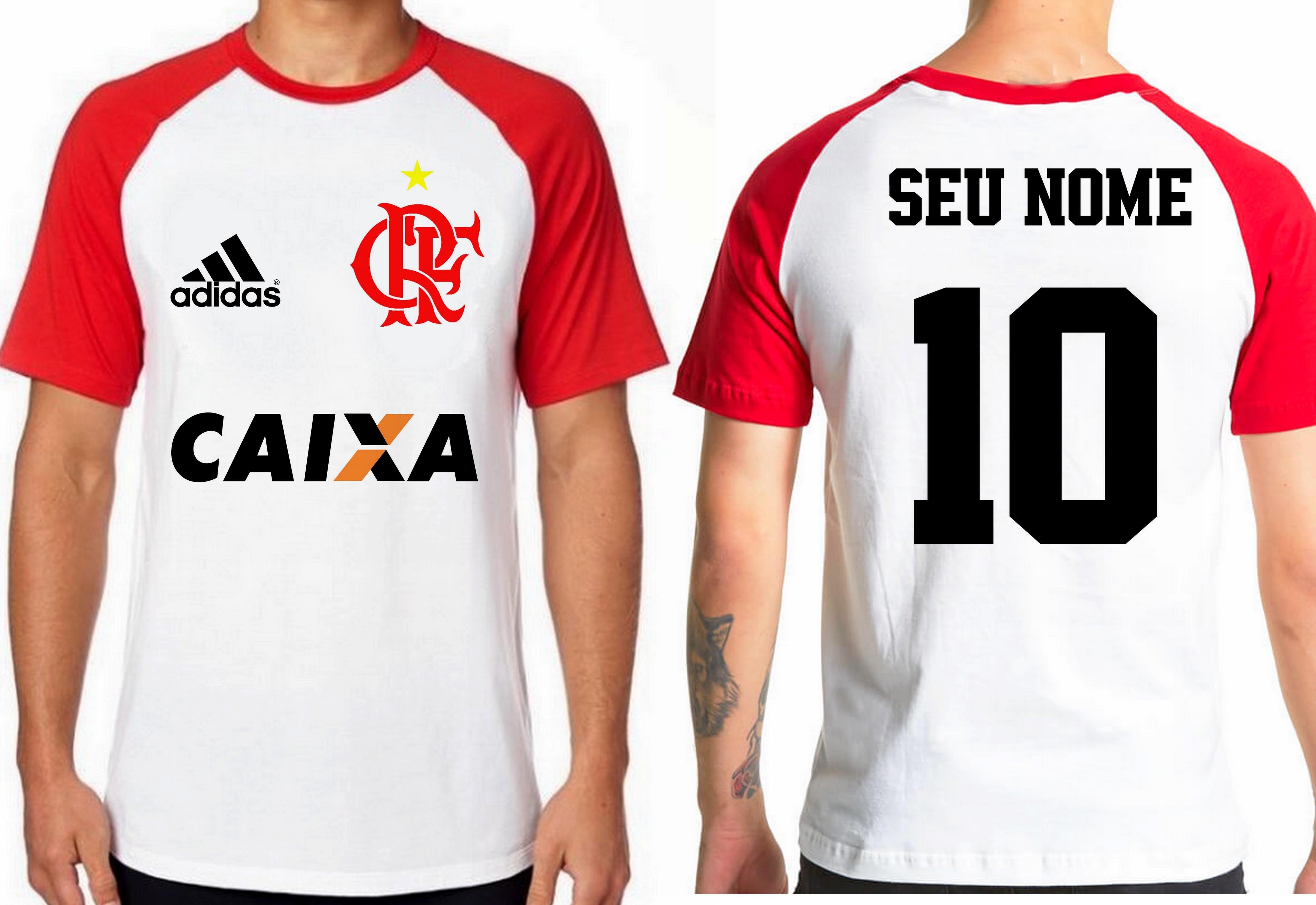 Camisa Camiseta Personalizada Time de Futebol Flamengo 03  a37c0d11ec164