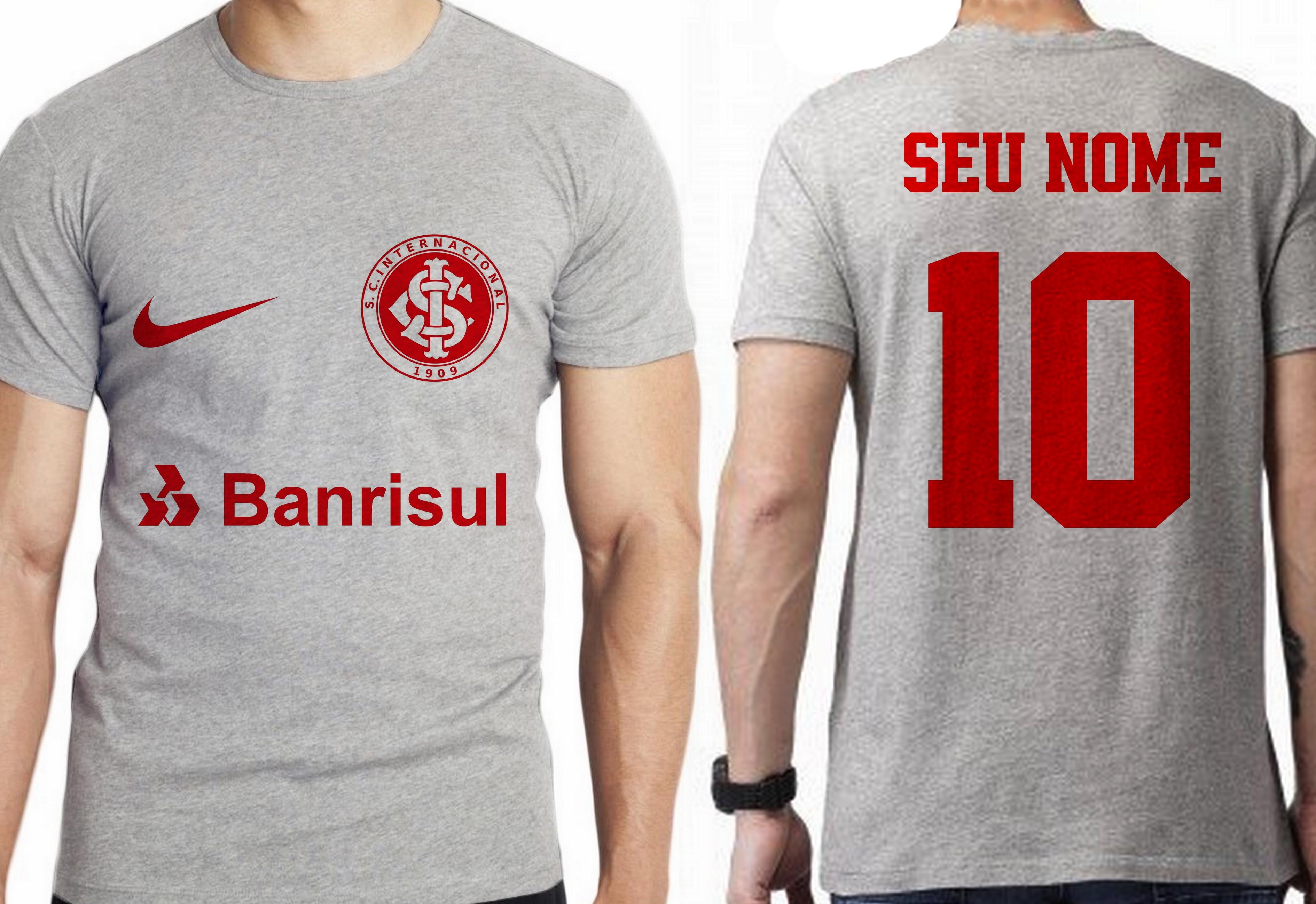 cb1da78de0 Camiseta Blusa Camisa personalizada nome inter internacional no Elo7 ...
