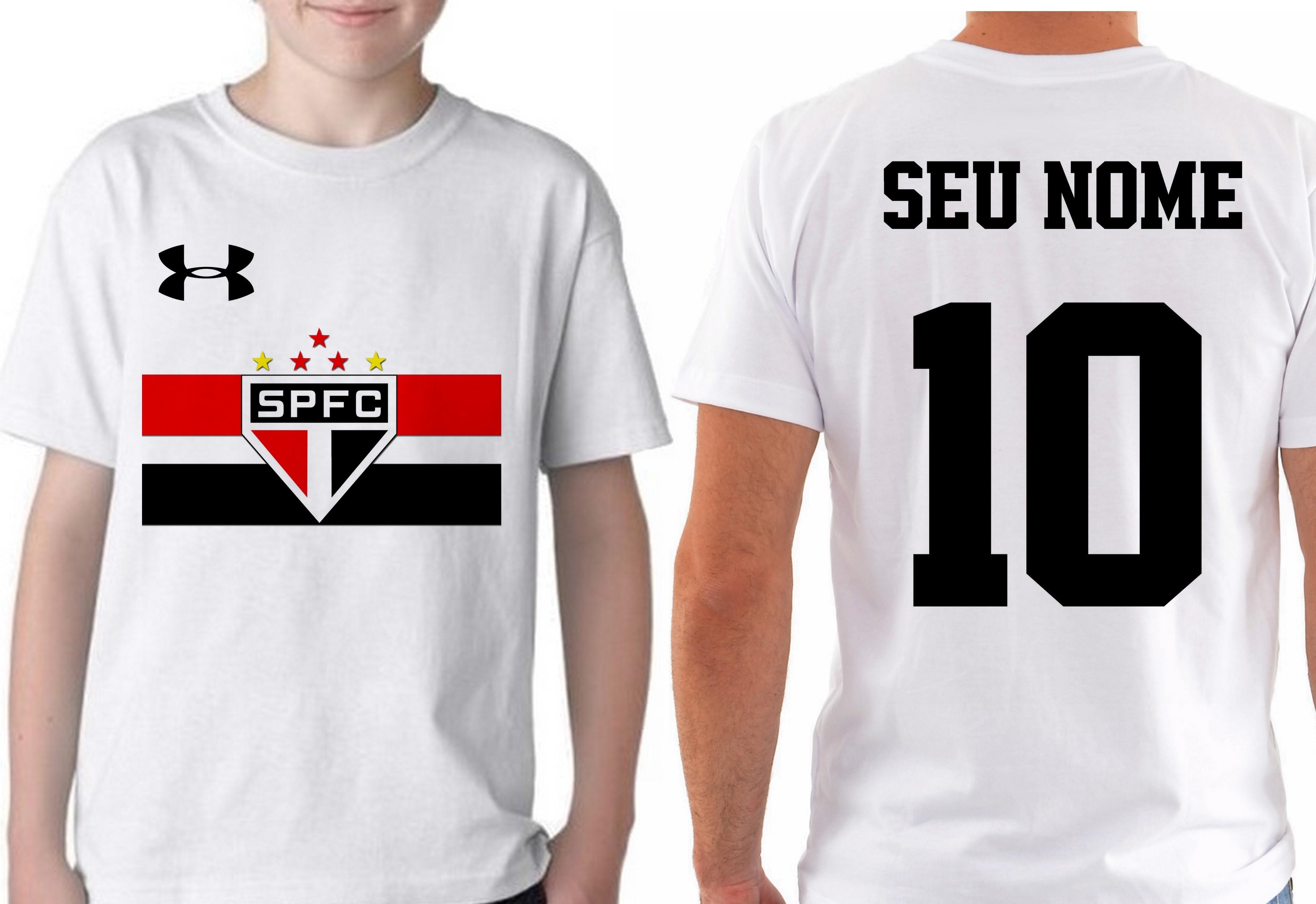Camiseta Infantil Blusa Crianca Nome Personalizado Sao Paulo  1ad45ea913875