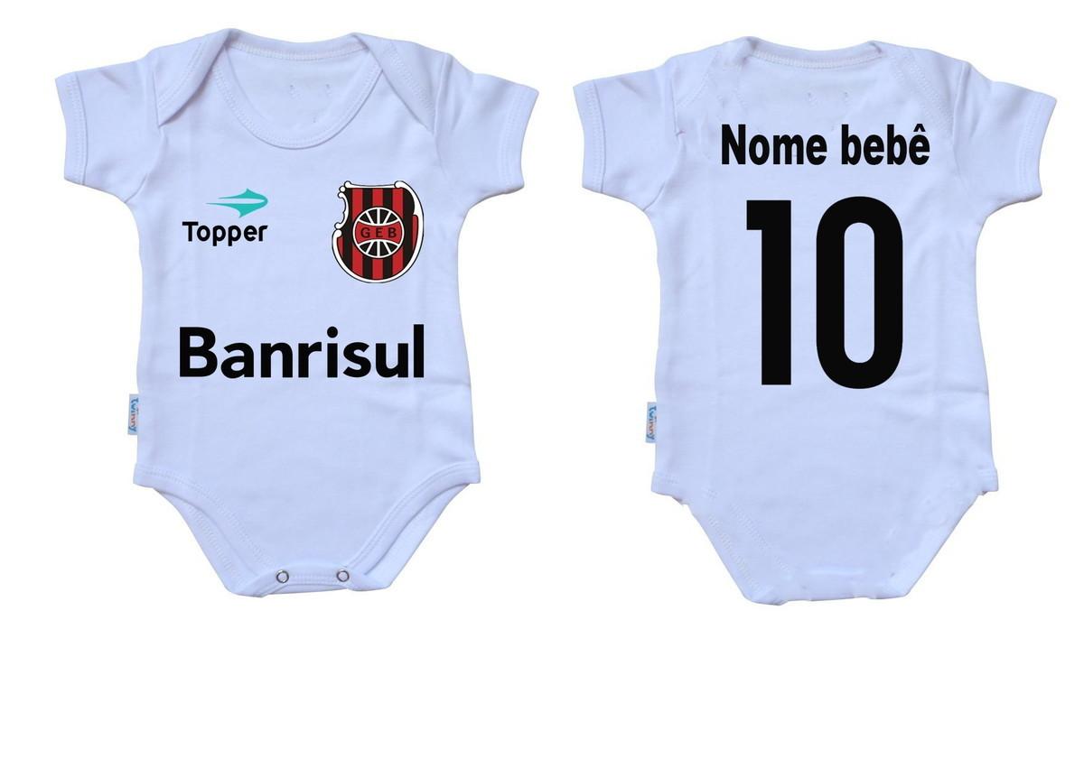 56e94c2b49 Body bebê roupa nenê personalizado Brasil Pelotas Grêmio Esp no Elo7 ...