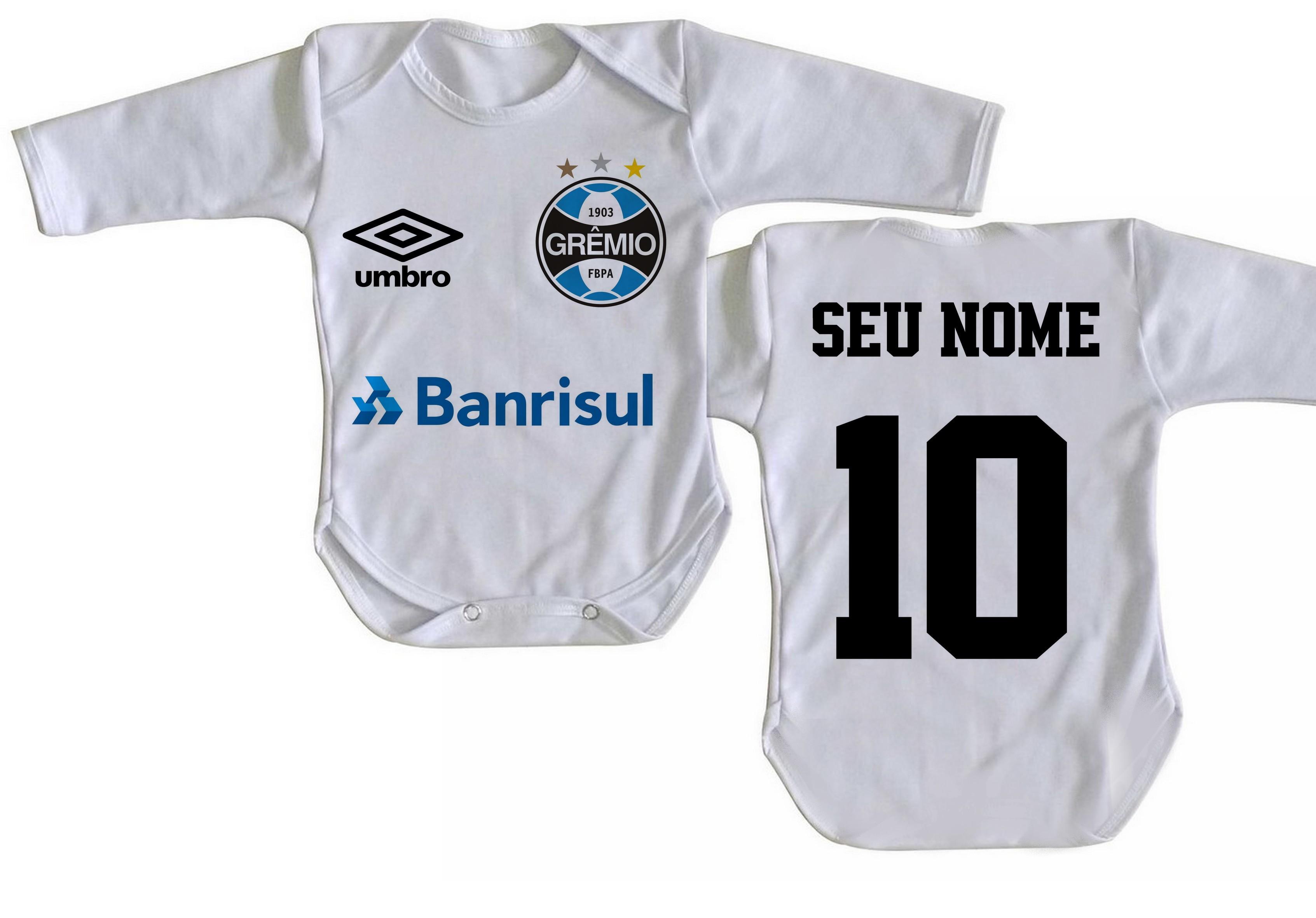 Body Bebe Roupa Nene Crianca Time Futebol Nome Gremio  57f1b5c55a826