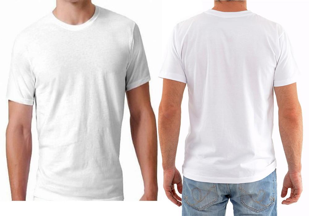 c728737999036 Camiseta Branca Lisa | Elo7