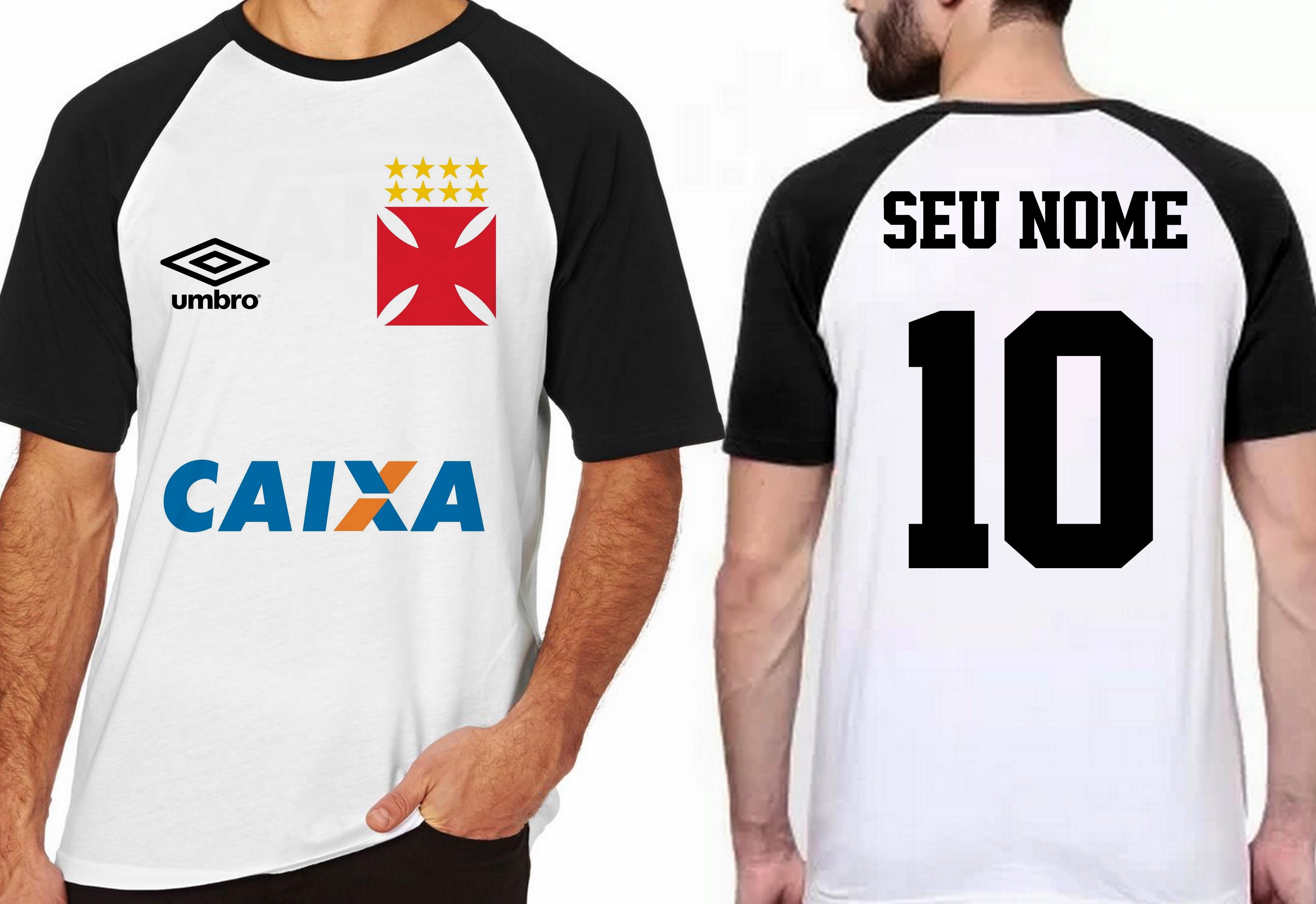 da820843b8 camiseta blusa futebol personalizada nome time vasco no Elo7 ...
