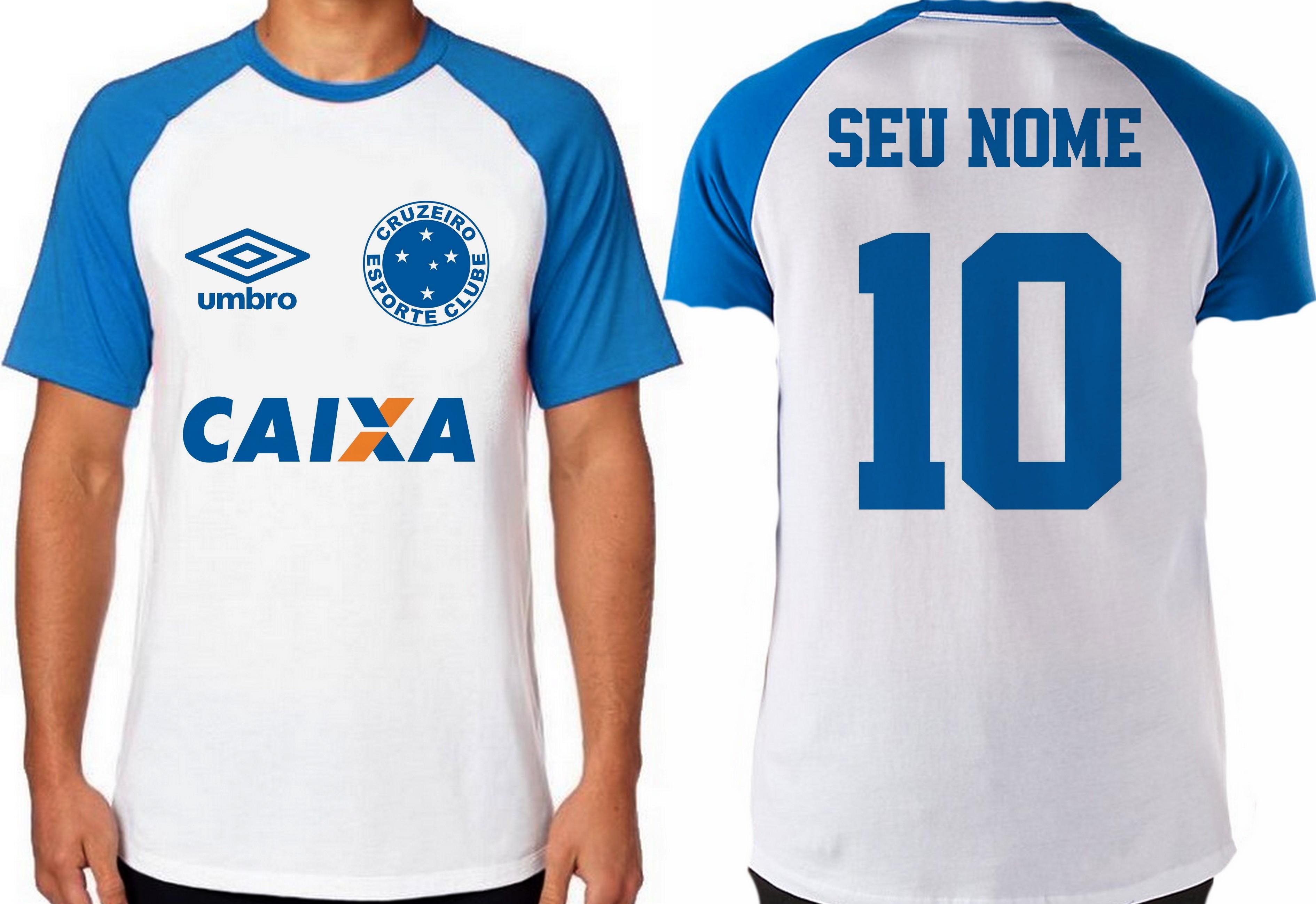 e7627783727e5 camiseta blusa futebol personalizada nome time cruzeiro no Elo7 ...