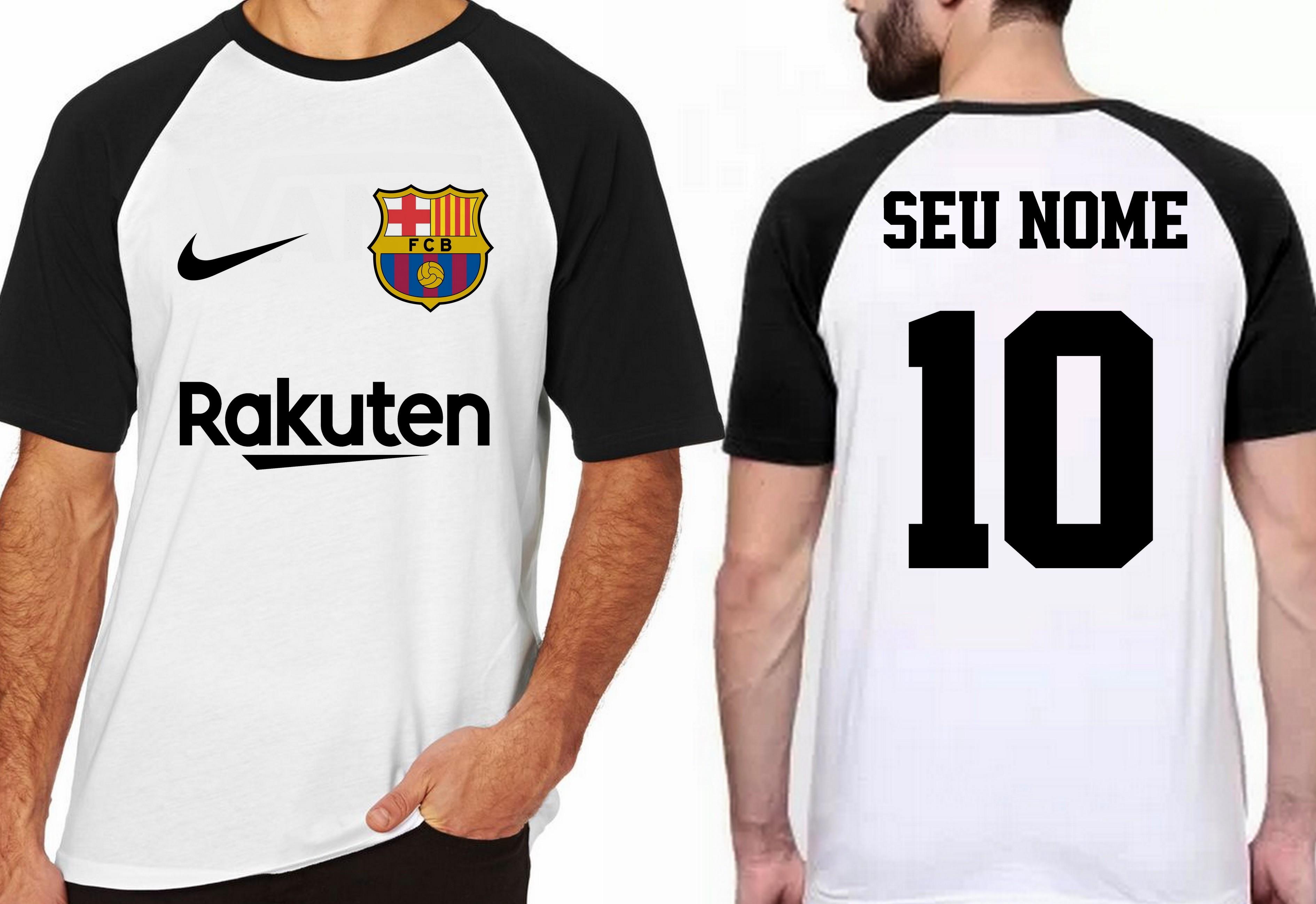 camiseta blusa futebol personalizada nome time barcelona no Elo7 ... f86a000e1ce