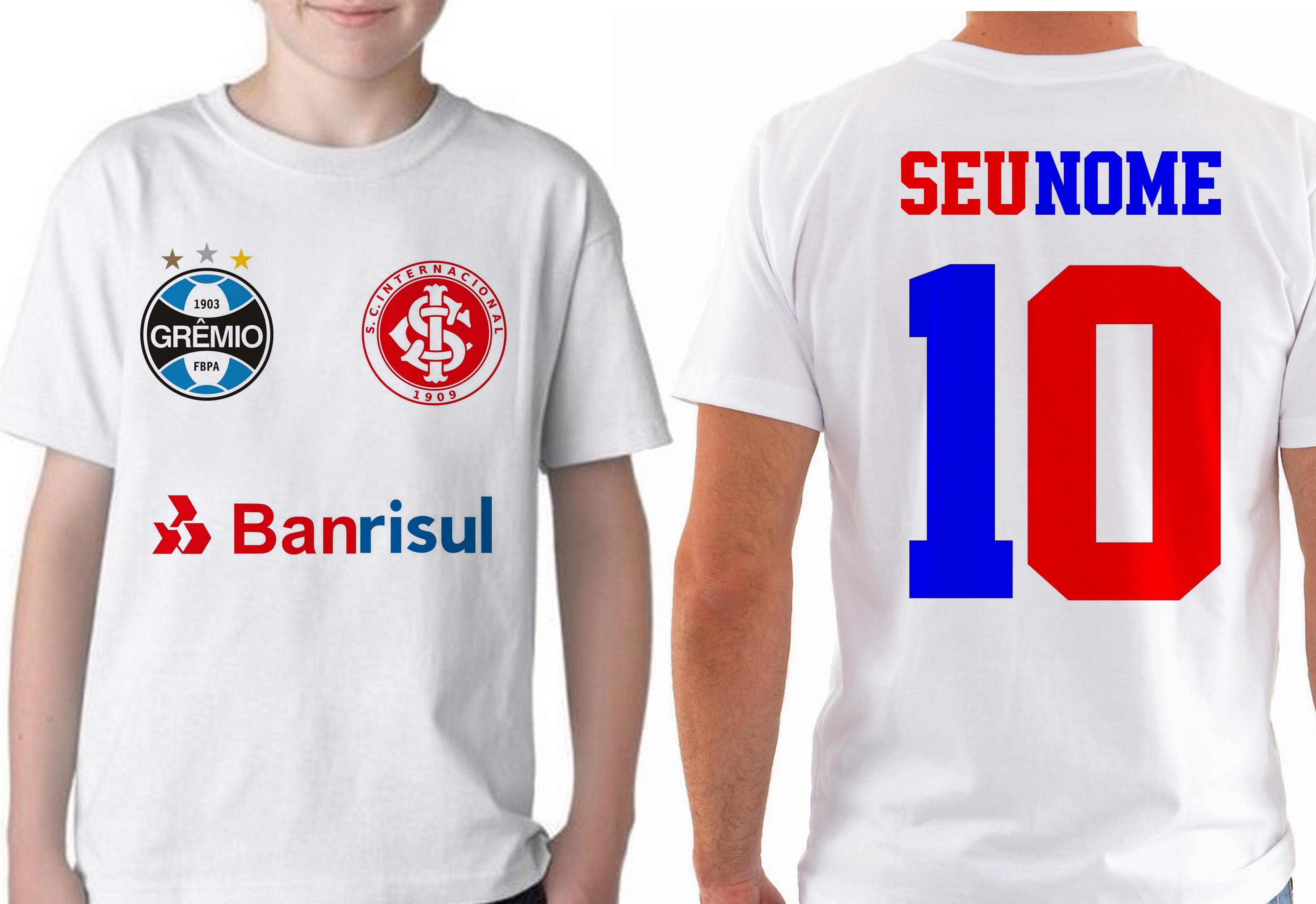 Camiseta Infantil Grenal Time Gremio Inter  7bd631b3bd1c6