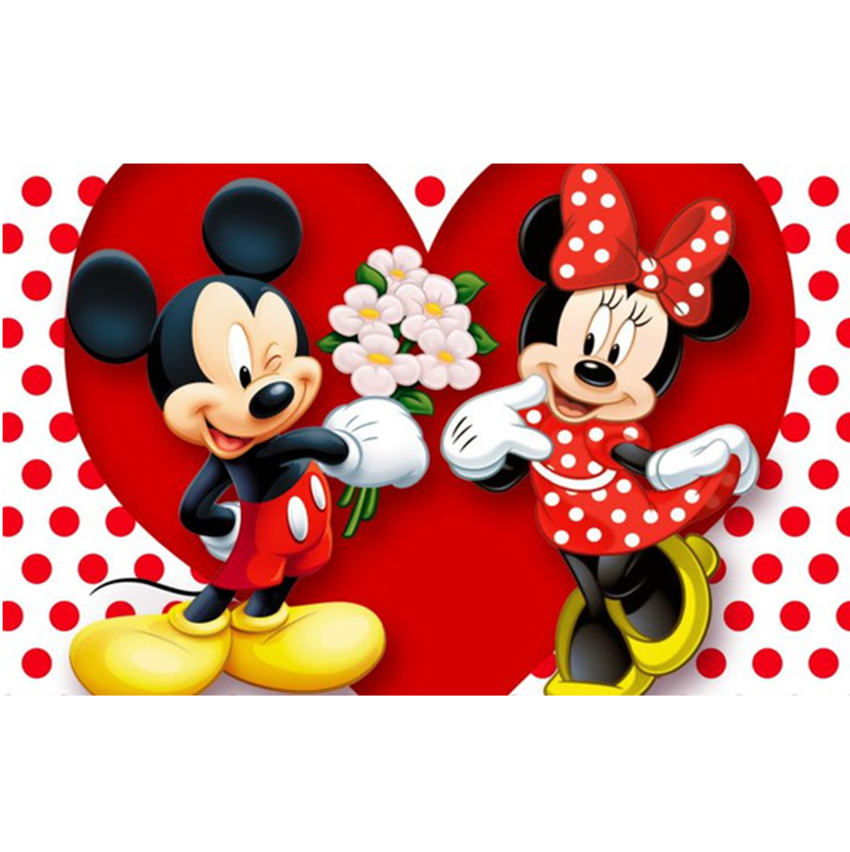 Painel Desenho Infantil Festa Mickey E Minnie 3d 3x2m No Elo7