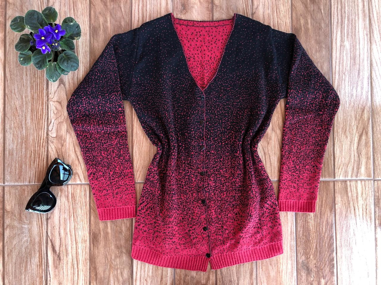 54bffb8166 Blusa de Frio Cardigan Varias Cores Casaco de lã Tricot no Elo7 ...