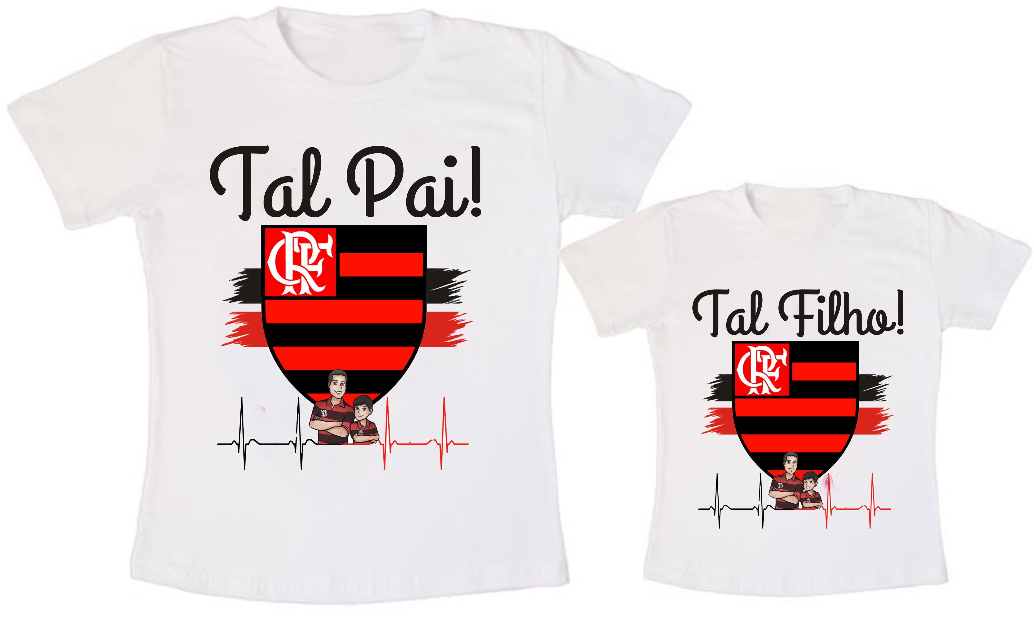 Kit Blusa Tal Pai Tal Filho do Flamengo  a72ef916dacf2