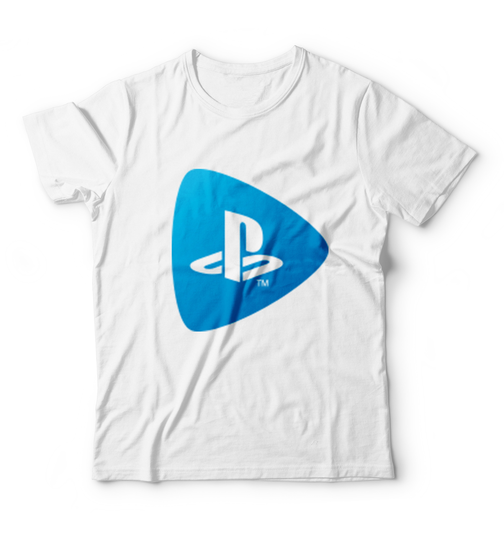 b8e5a99c9 Camiseta Playstation Logo Camisetas Manga Curta Masculino