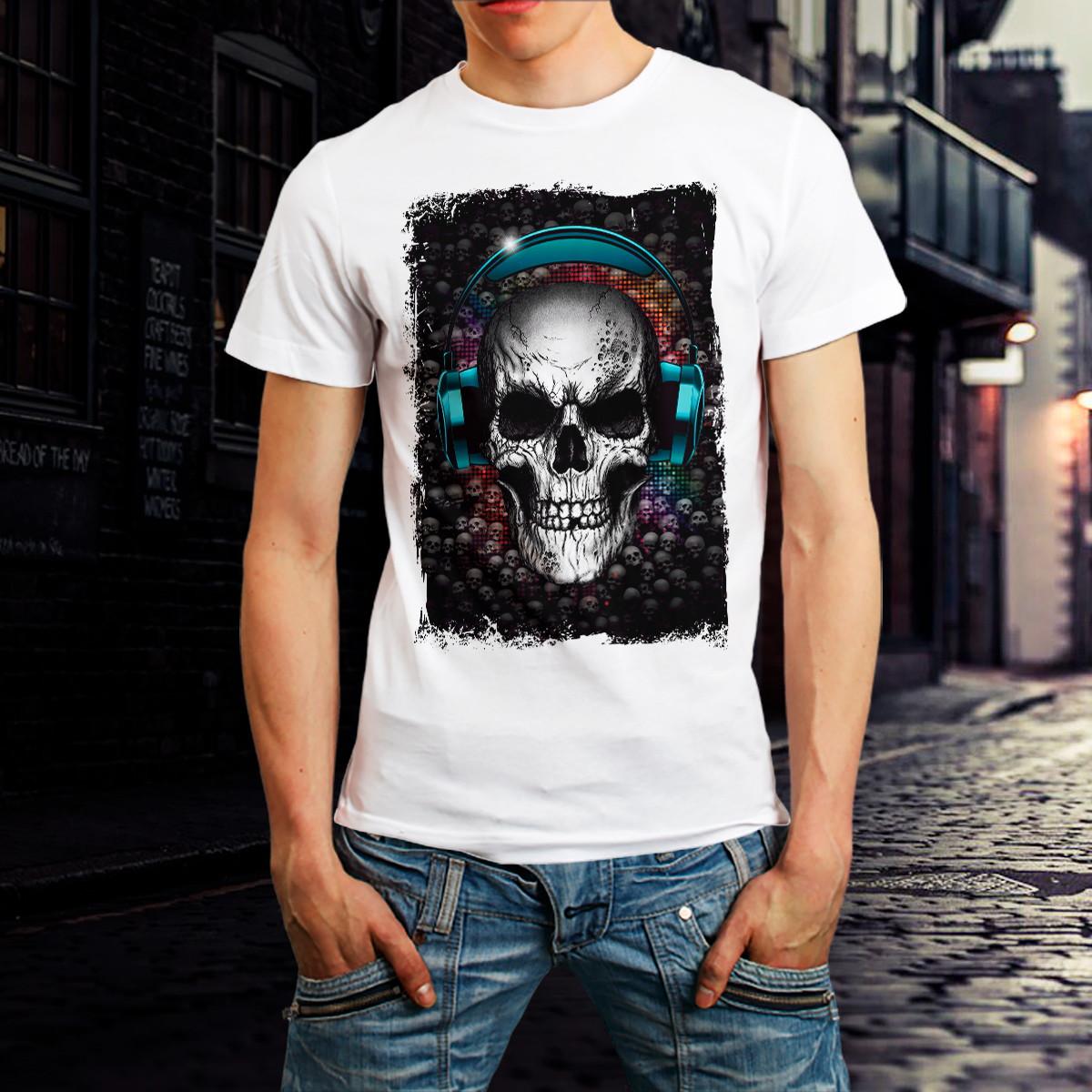 Camiseta Caveira Skull Camisa Roupa Masculina Branca BARATO no Elo7 ... 202350d170e8f