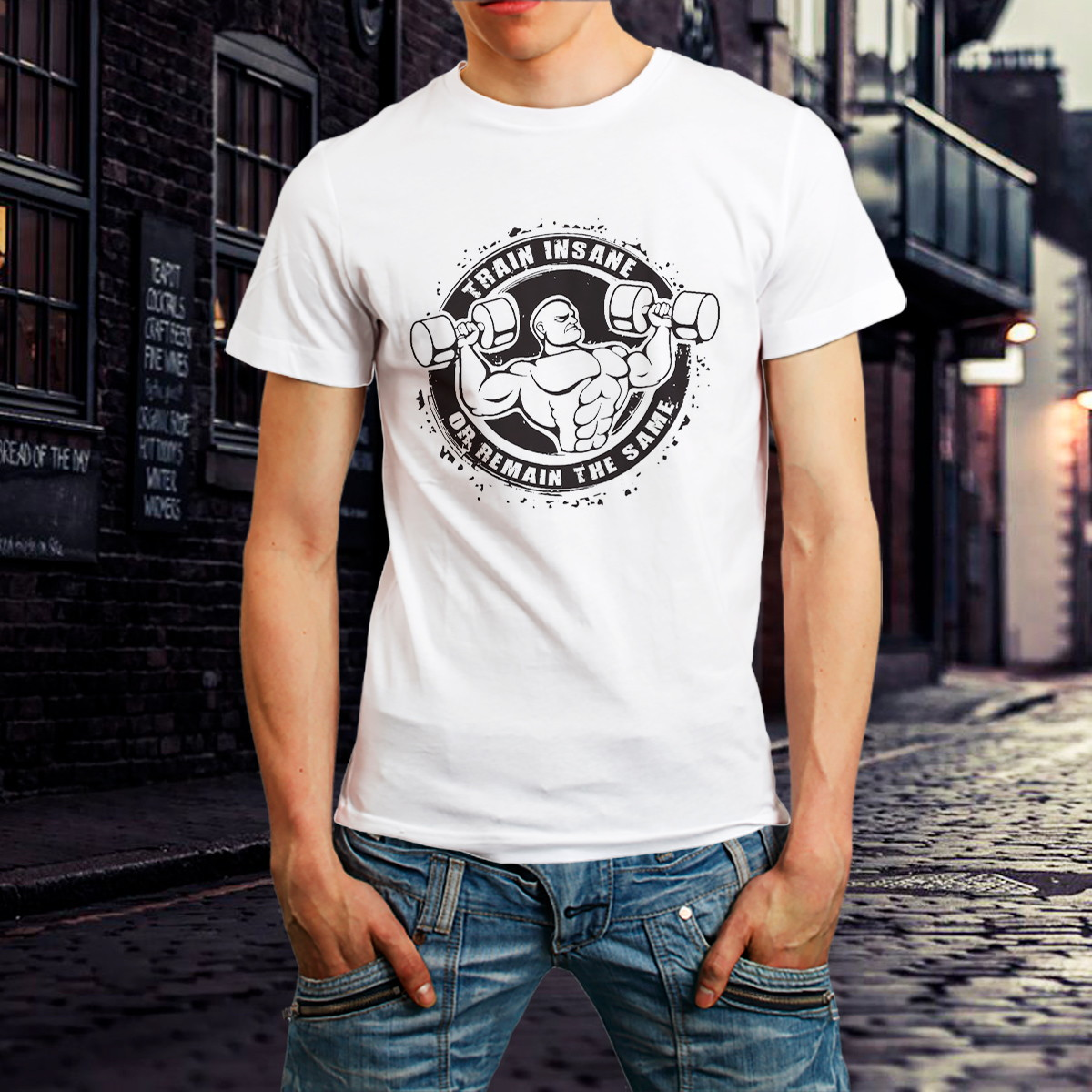 3aa8c775f Camiseta Fitness Academia Roupa Camisa Masculina Branca no Elo7 ...