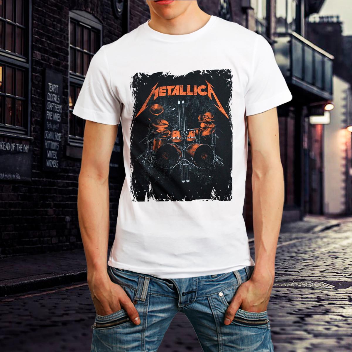 b372a948d8a Camiseta Metallica Banda Rock Camisa Roupa Branca Promoção no Elo7 ...