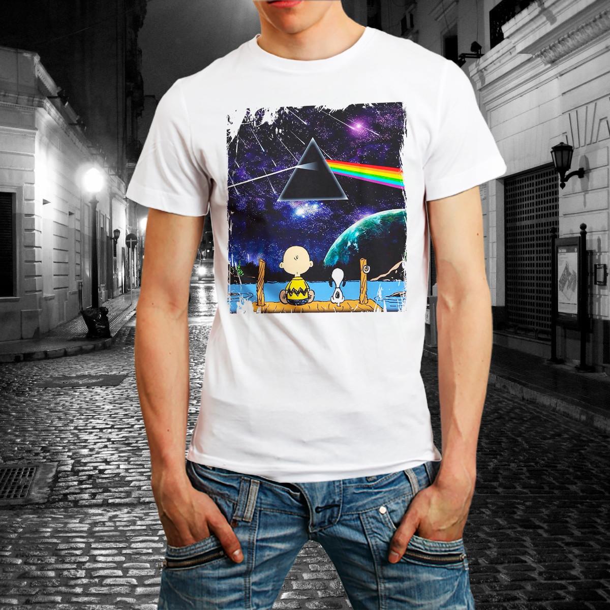 a440e95797a Camiseta Banda Rock Pink Floyd Camisa Roupa Masculina Branca no Elo7 ...