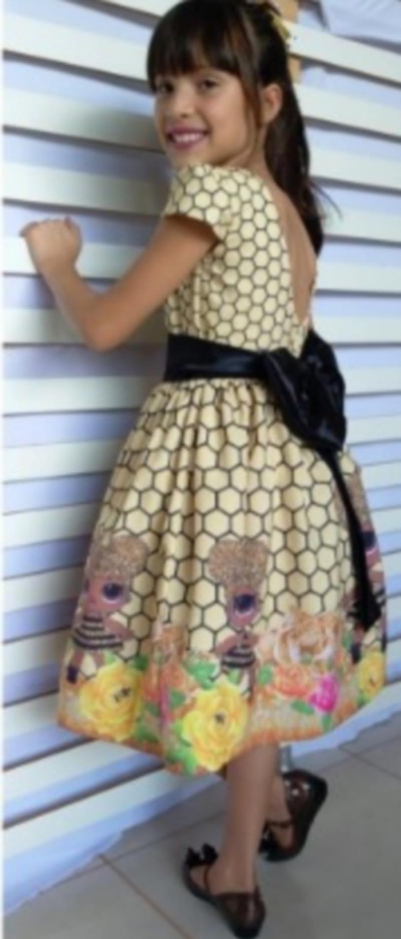Vestido Festa Lol Queen Bee Infantil Modelo Luxo 1 6 Anos
