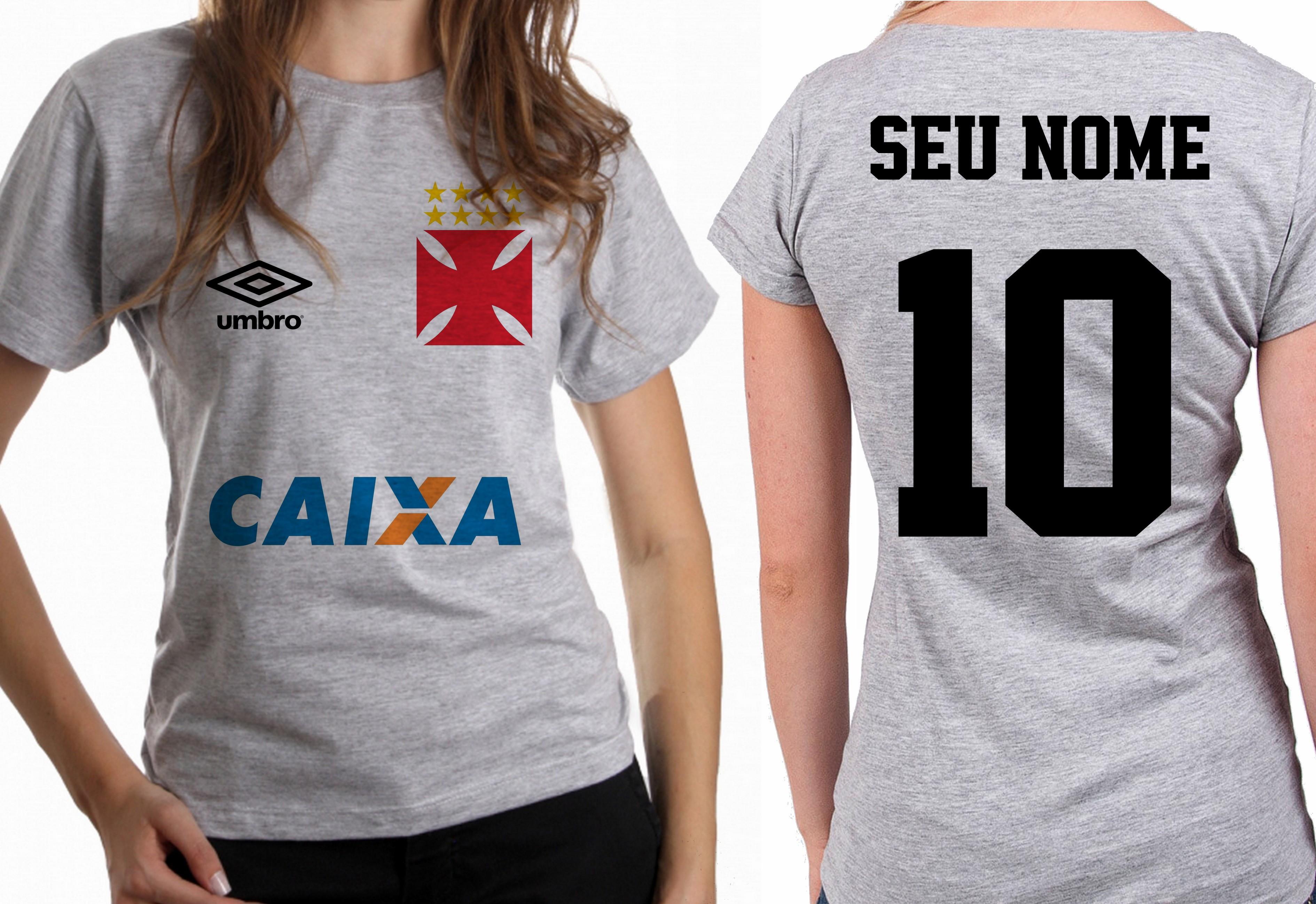 2c10731daf blusa feminina baby look futebol nome personalizado Vasco no Elo7 ...