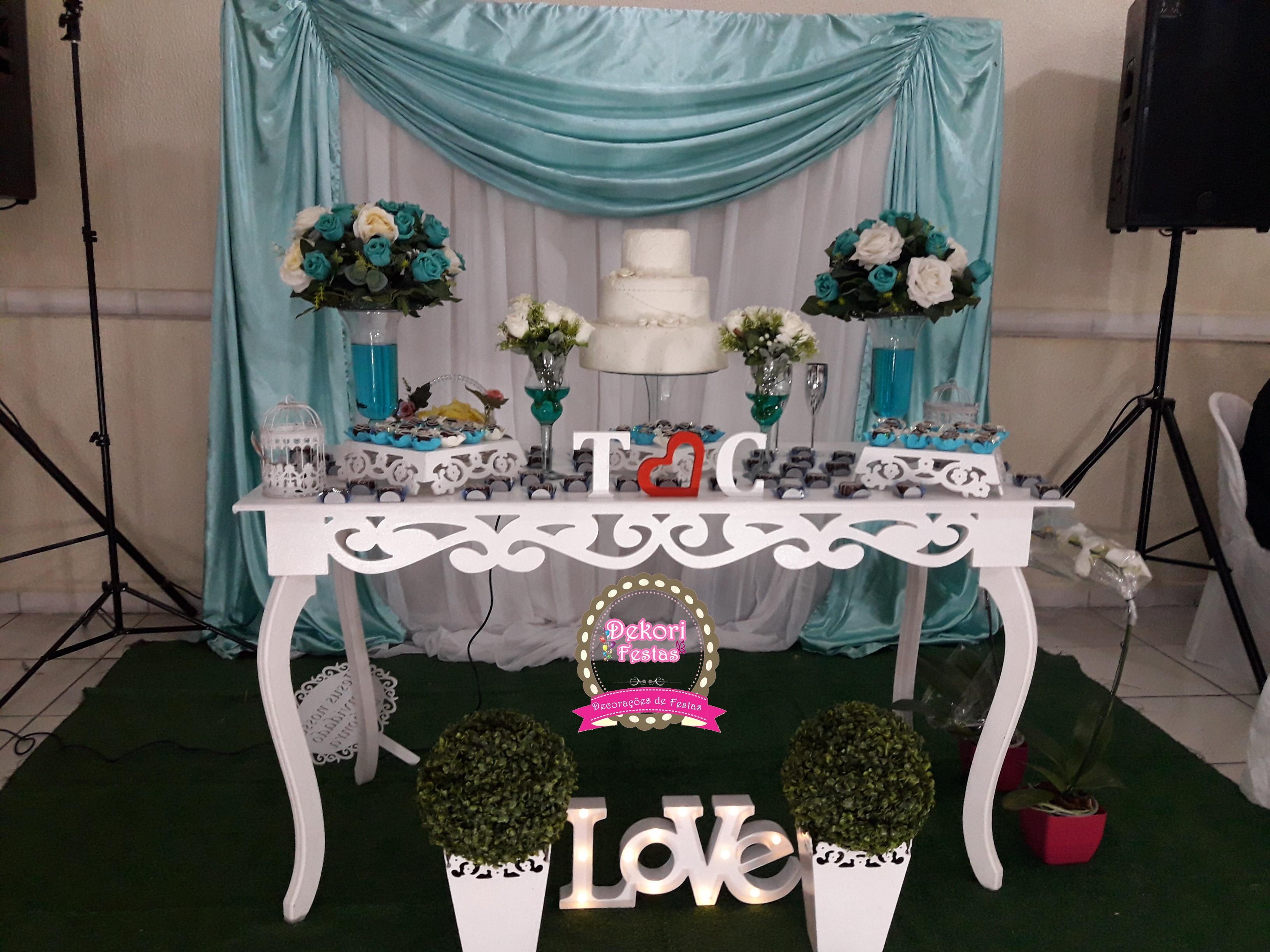 298592d564 Decoracao de Casamento Azul Tiffany | Elo7
