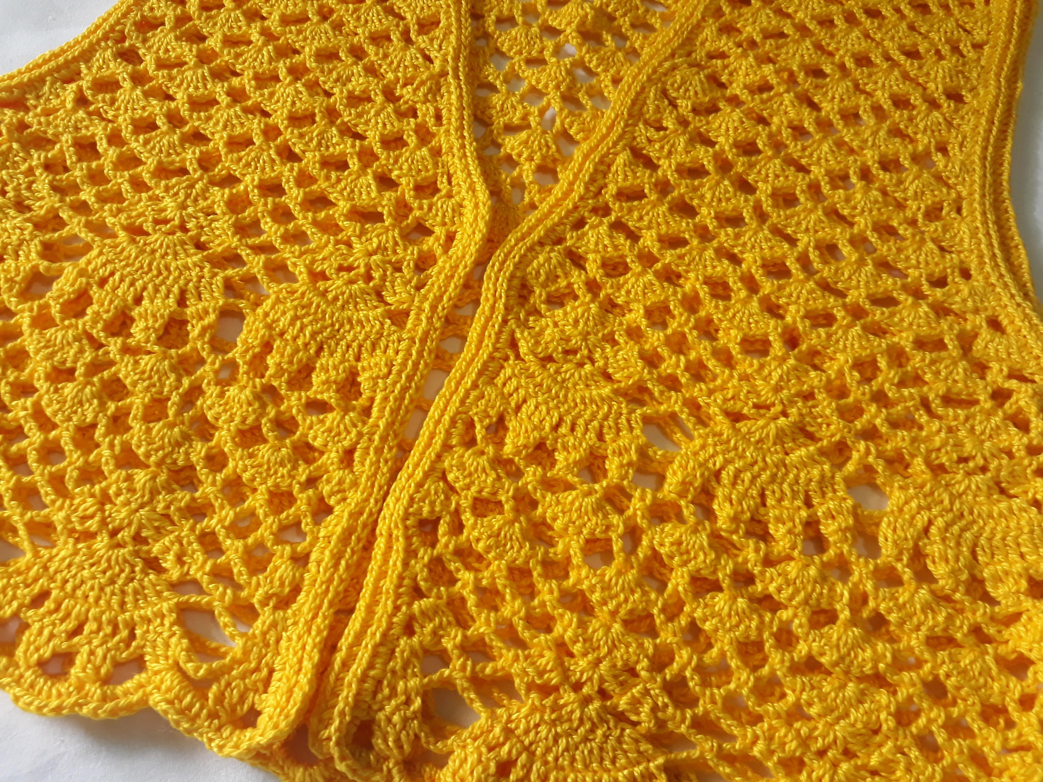 Colete Vintage Amarelo  a73d0bd0de767