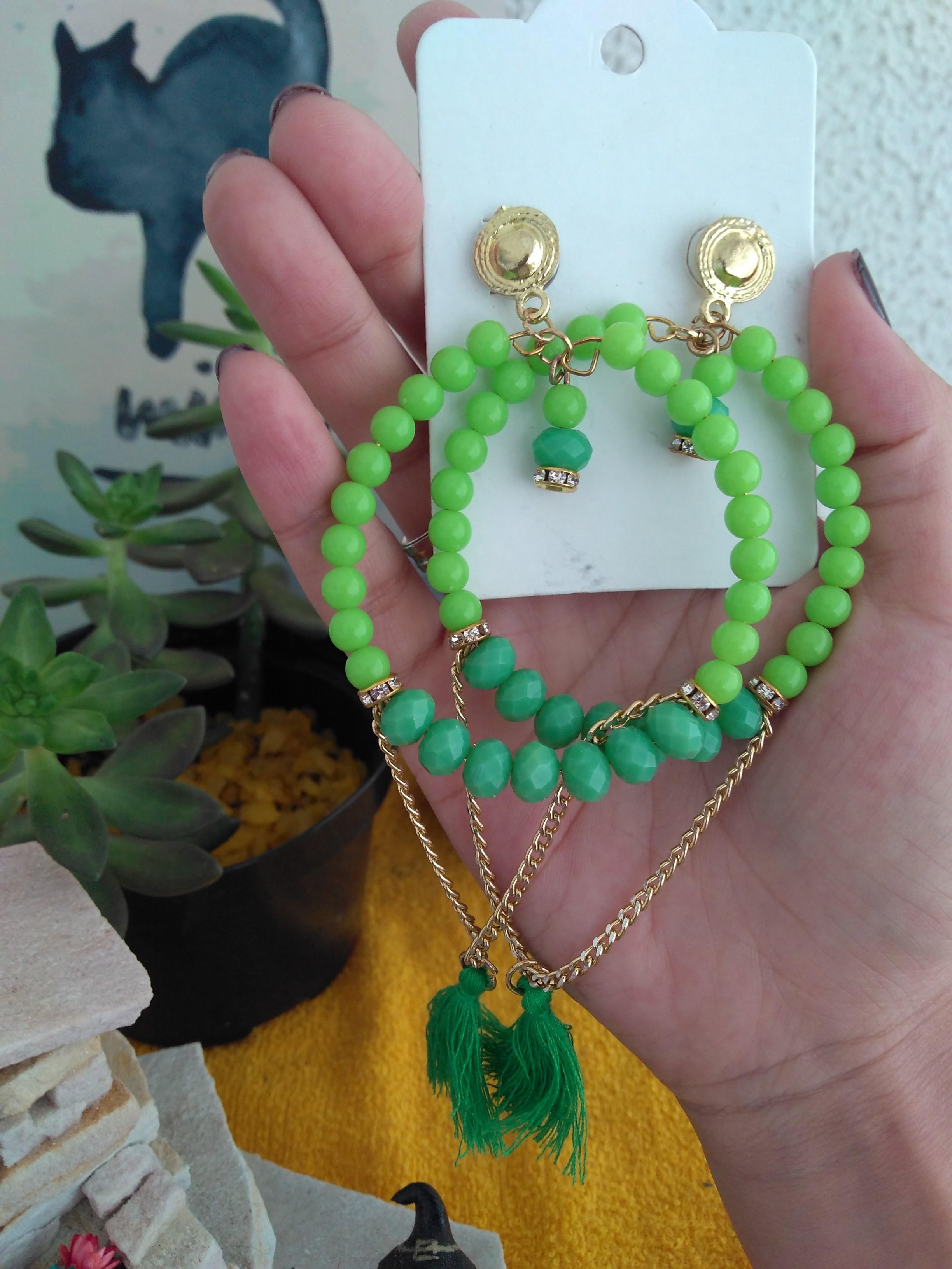 c5fc7db8e5a Maxi Brinco Pedraria Verde