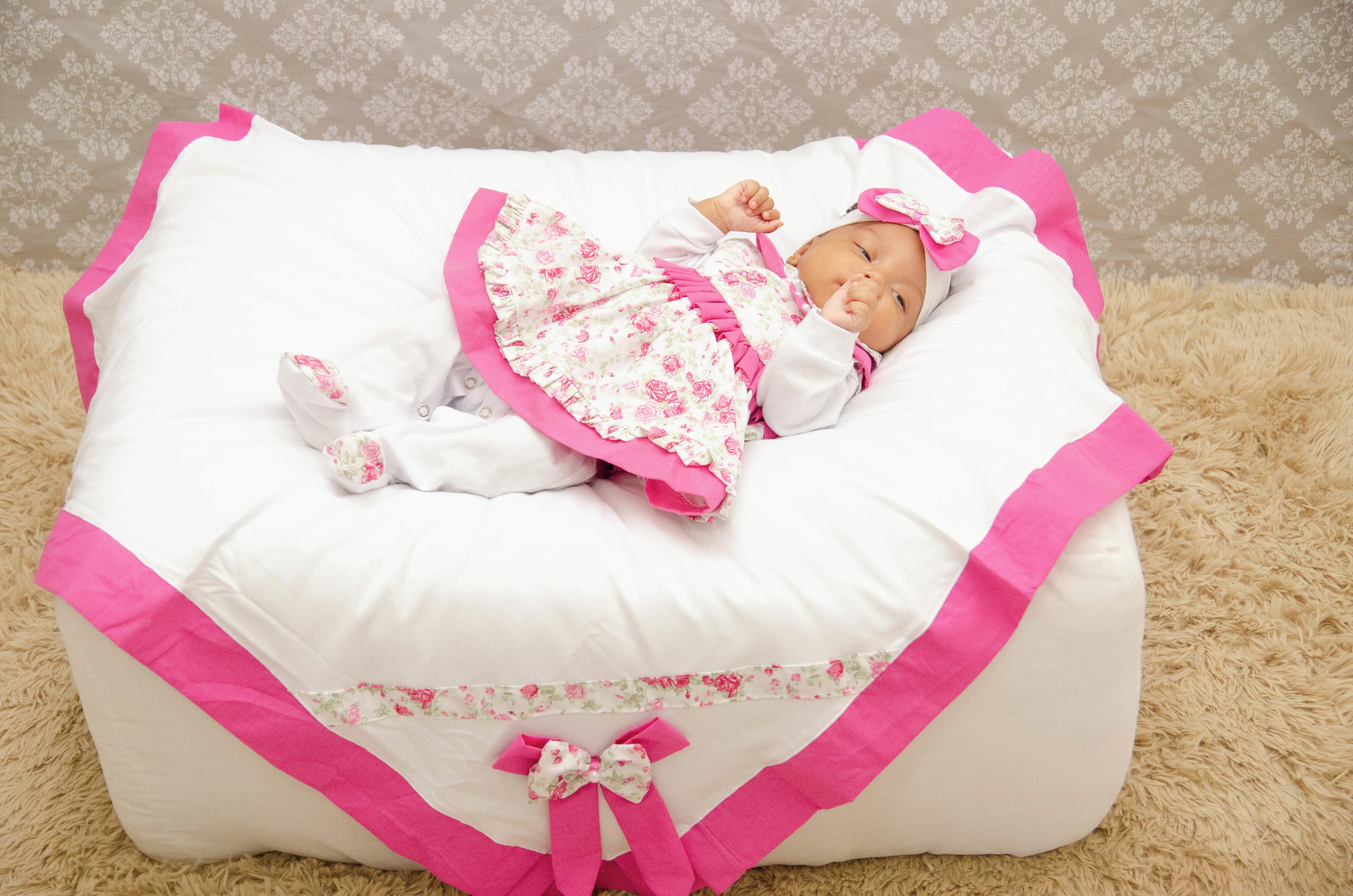Saida de Maternidade Menina 5 Pecas Gaby  1909406dc36