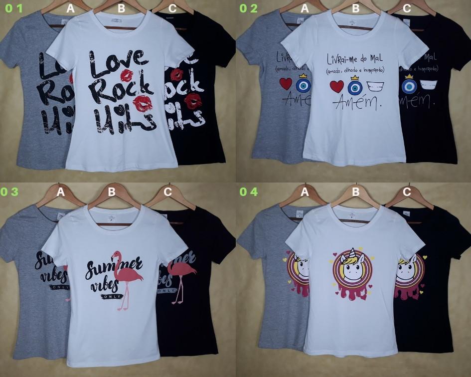 Kit 10 Tshirts Blusas Camisetas Atacado  d113426edb6