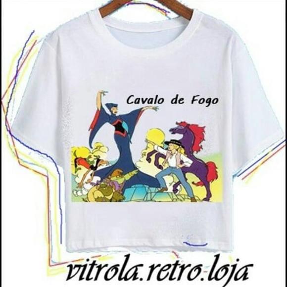560463615a Camiseta Blusa Cavalo de Fogo Princesa Sarah