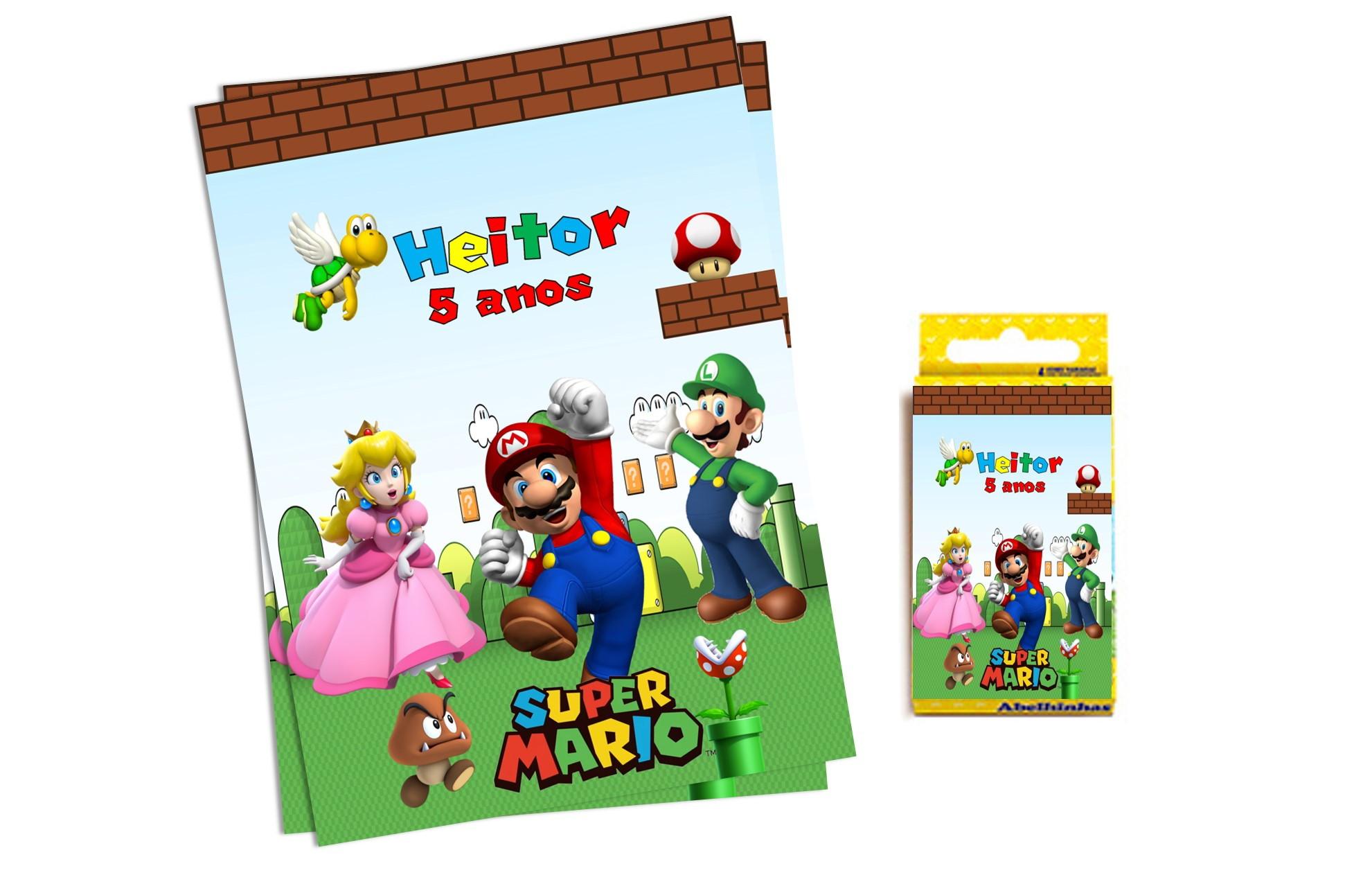 Edredon De Mario Bros.Edredon Mario Bros Elo7