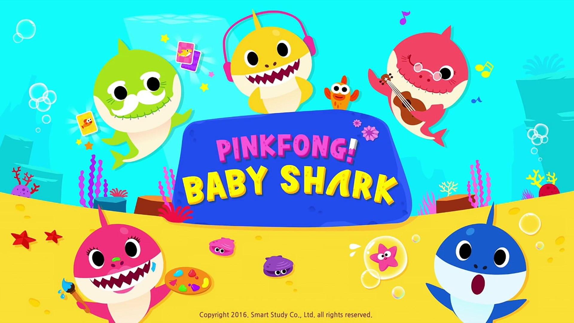 Painel 2x1m Baby Shark