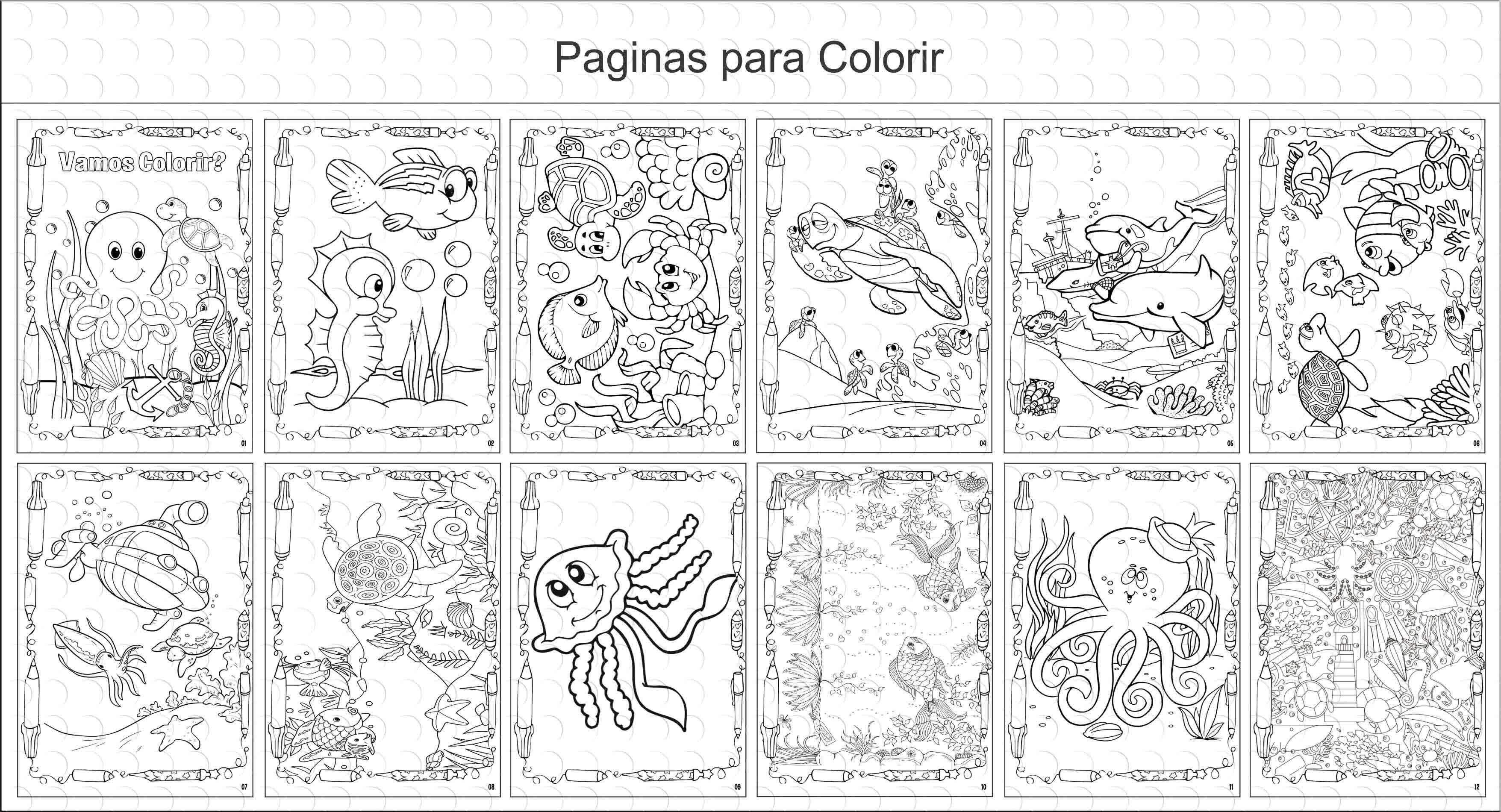 Livro De Colorir Fundo Do Mar 15x21cm No Elo7 G A Personalize