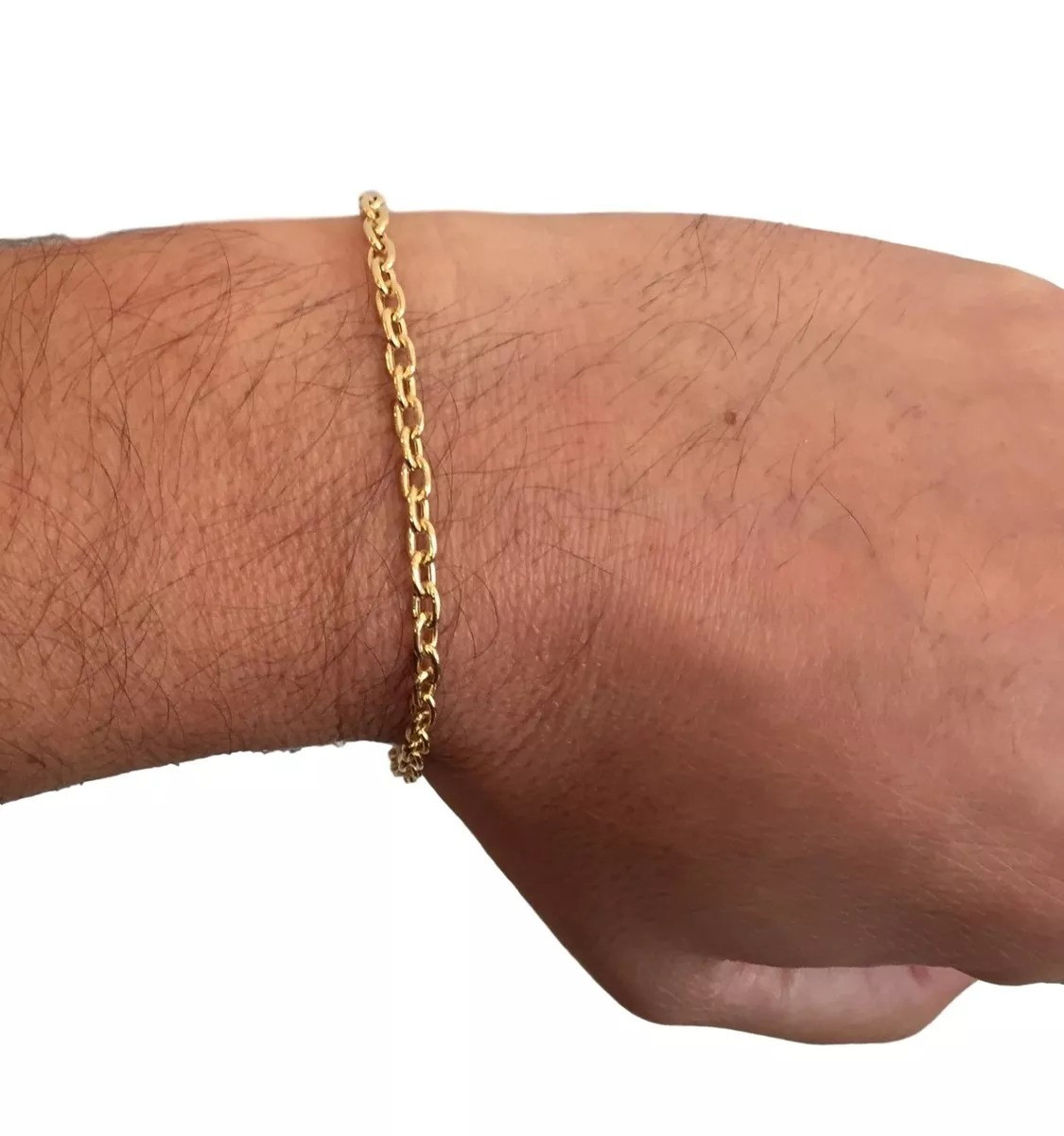 562e43c9668 Pulseira cartier cadeado moeda antiga cor de ouro 3mm no Elo7 ...