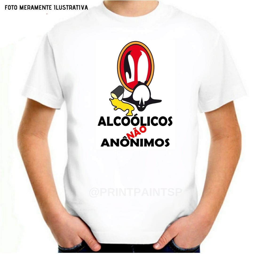 2dd571e84 Camiseta Personalizada Pinguim Alcoólicos Não Anônimos
