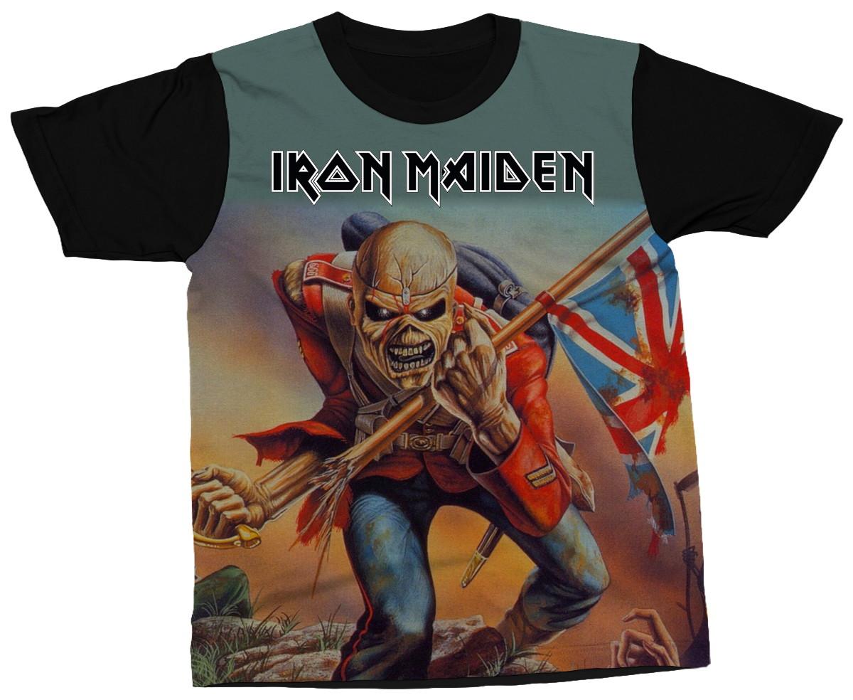 129b0d3c9 Camiseta Iron Maiden Banda Eddie Metal Música Camisa Estampa no Elo7 ...