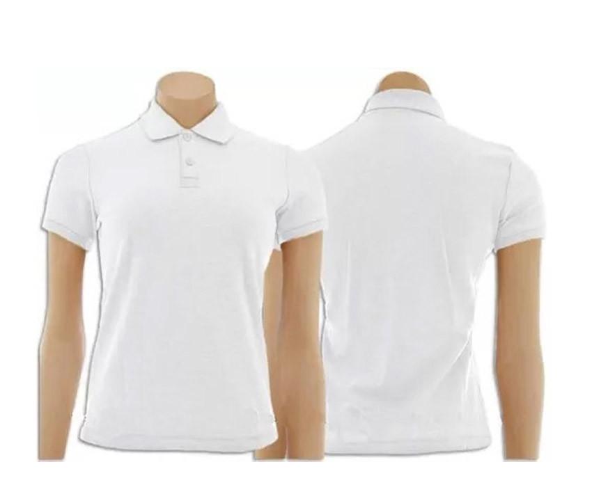 e97396a127 Kit com 2 Camisetas Gola Polo Feminino Branca e Preta no Elo7 ...