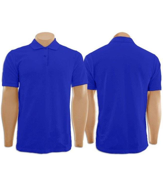 45e3676b7 Kit com 2 Camisetas Gola Polo Azul Roya Masculina e Feminina no Elo7 ...