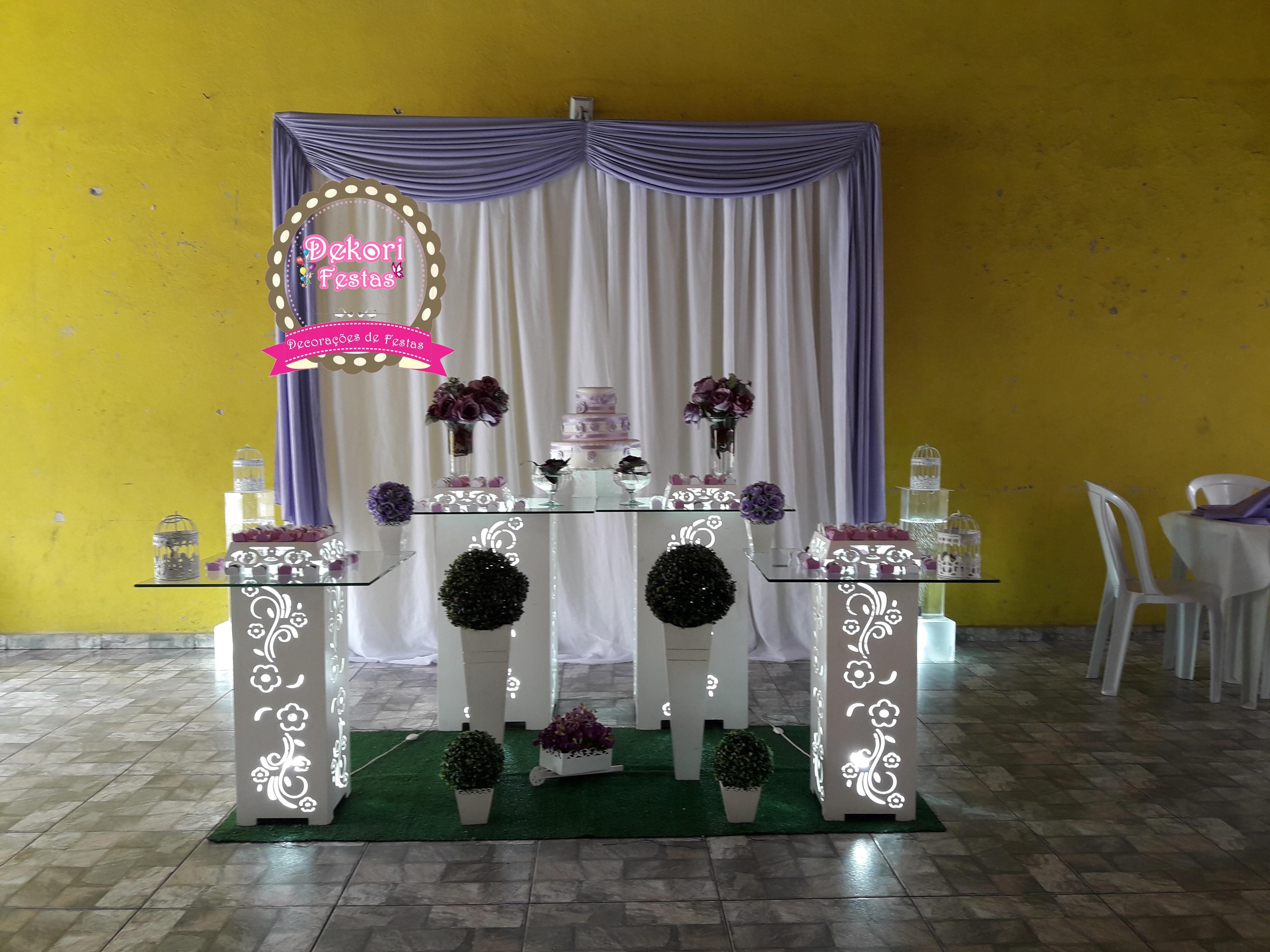 9e03b6351428b6 Decoracao Casamento Lilas Igreja | Elo7