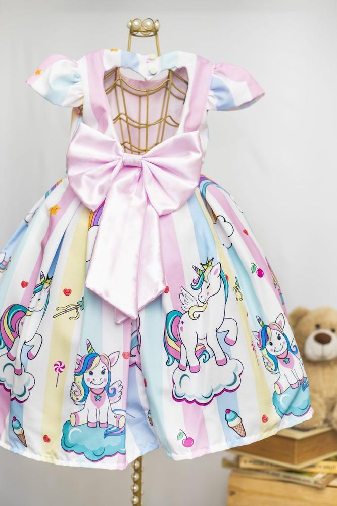 Vestido Tule Unicornio Elo7
