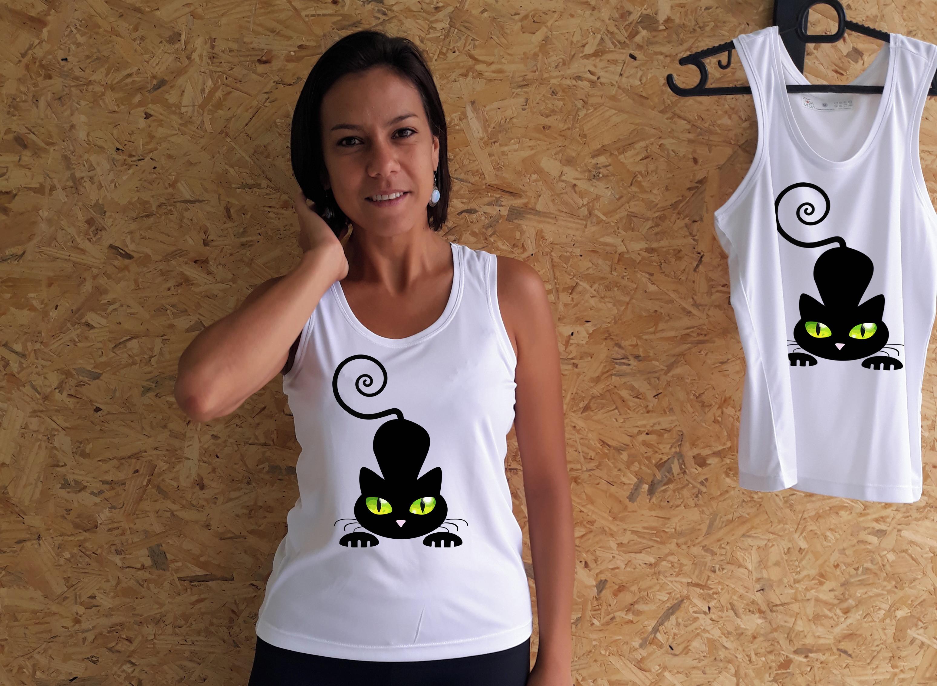 Regata Feminina Dry Gatinho Travesso  08677291541
